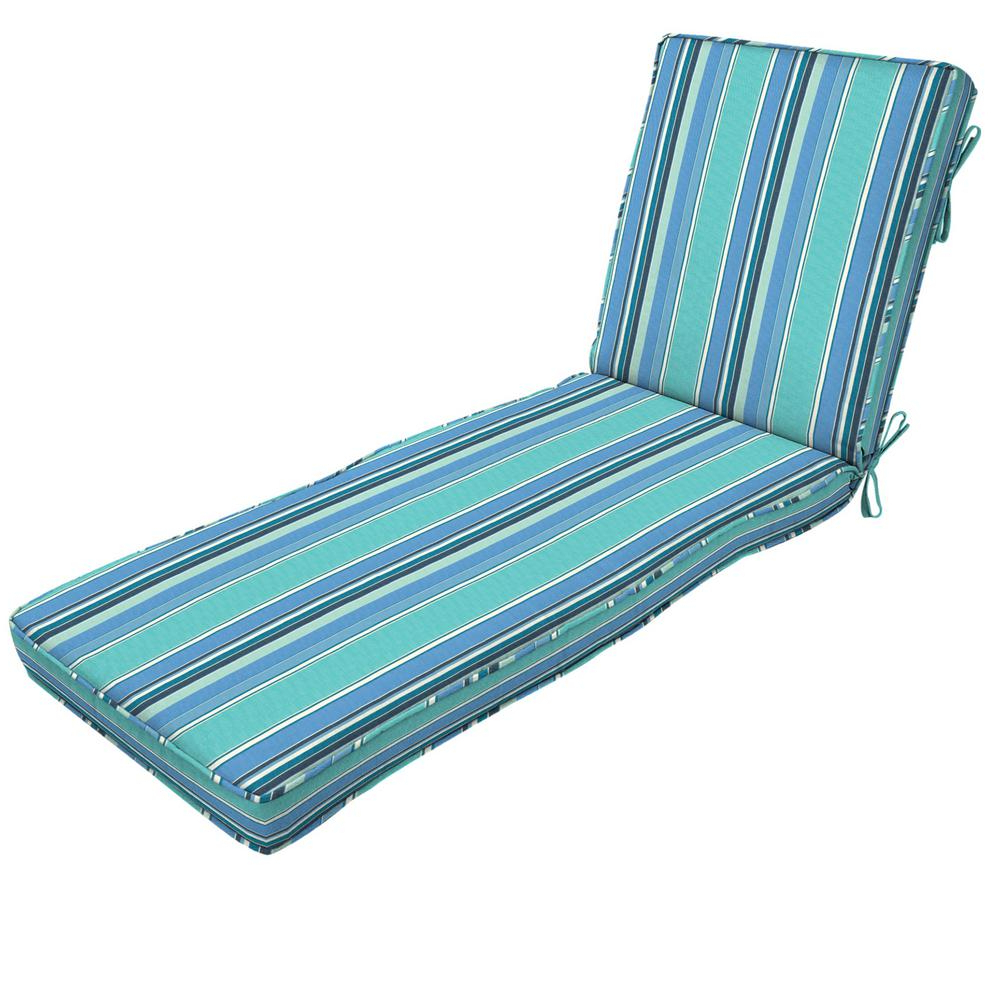Featured Photo of Indoor Outdoor Textured Bright Chaise Lounges With Sunbrella Fabric