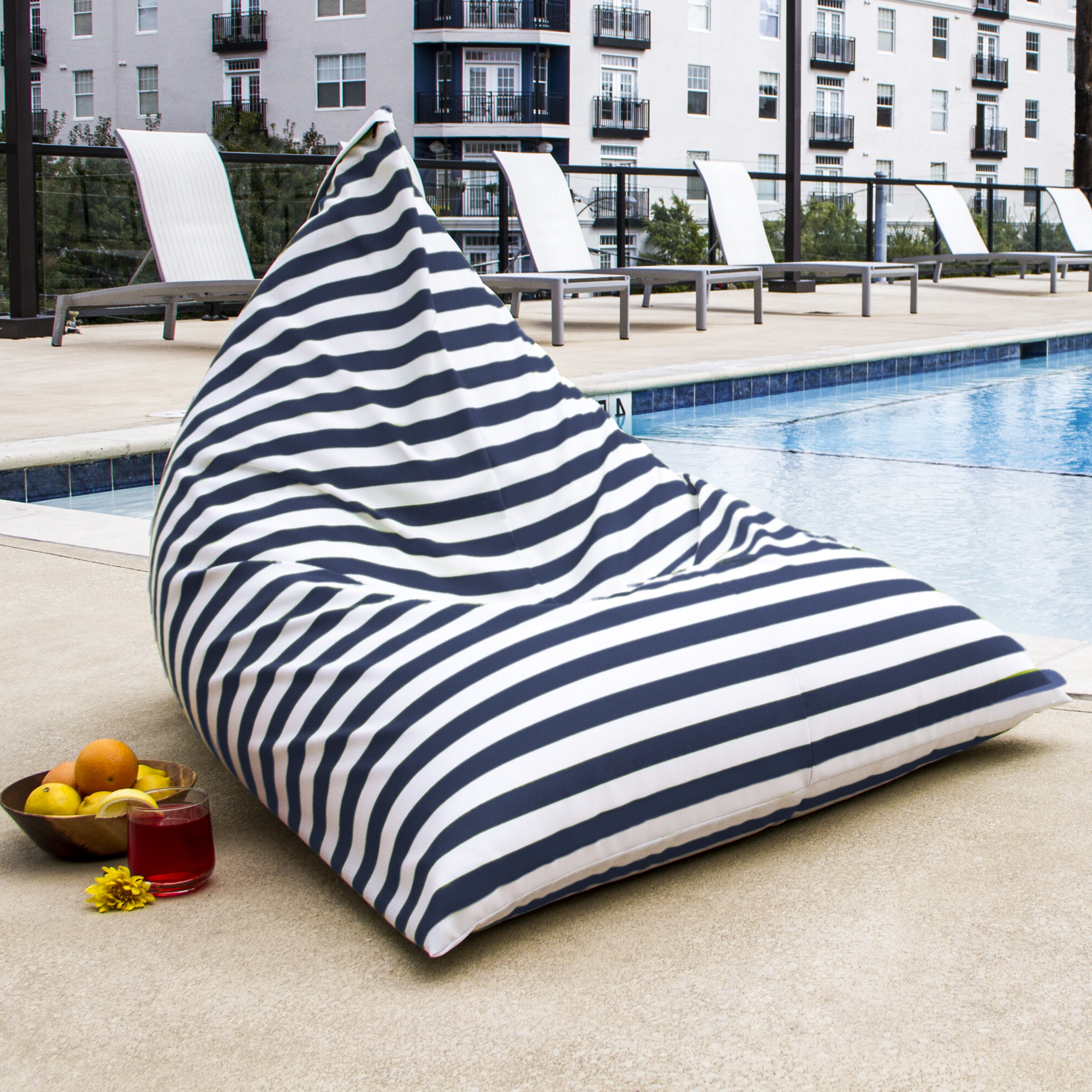 Newest Jaxx Ponce Outdoor Bean Bag Patio Chairs Within Twist Outdoor Bean Bag Chair (View 24 of 25)