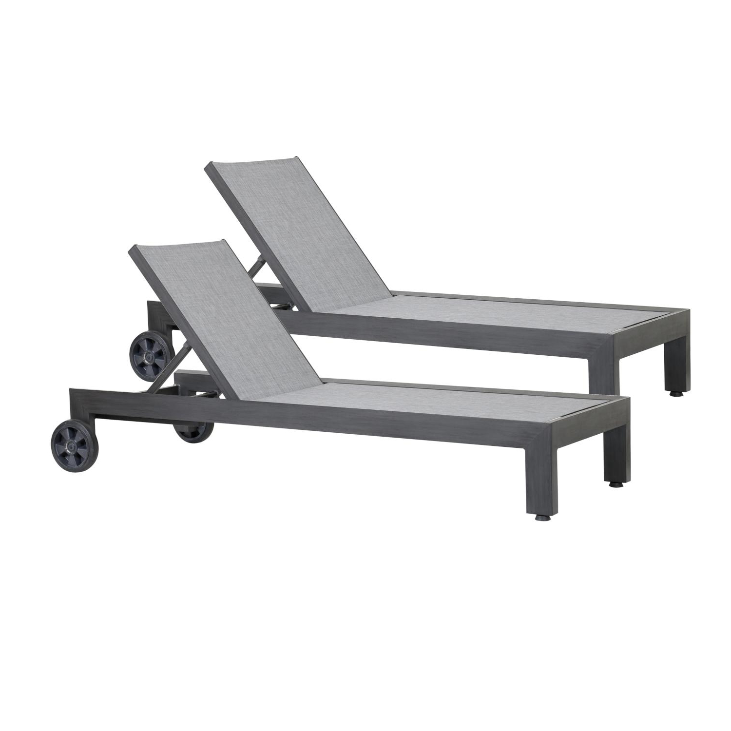 Newest Navan Outdoor Aluminum Chaise Lounges With Cushion Inside Sunset West Redondo 2 Piece Aluminum Patio Chaise Lounge Set (Gallery 21 of 25)