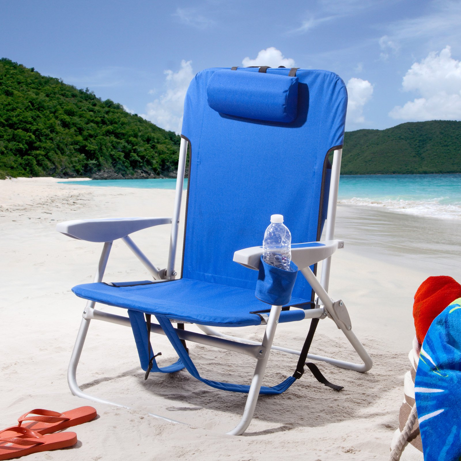 Newest Outdoor Rio Extra Wide Backpack Beach Chair Blue (View 18 of 25)