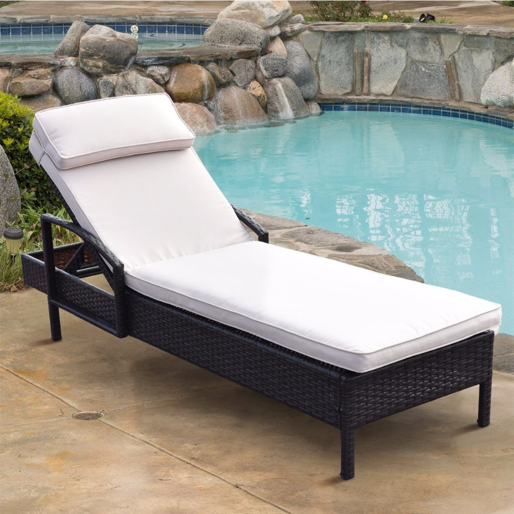 Newest Outdoor Wicker Chaise Lounge Chairs Pertaining To Us $ (View 21 of 25)