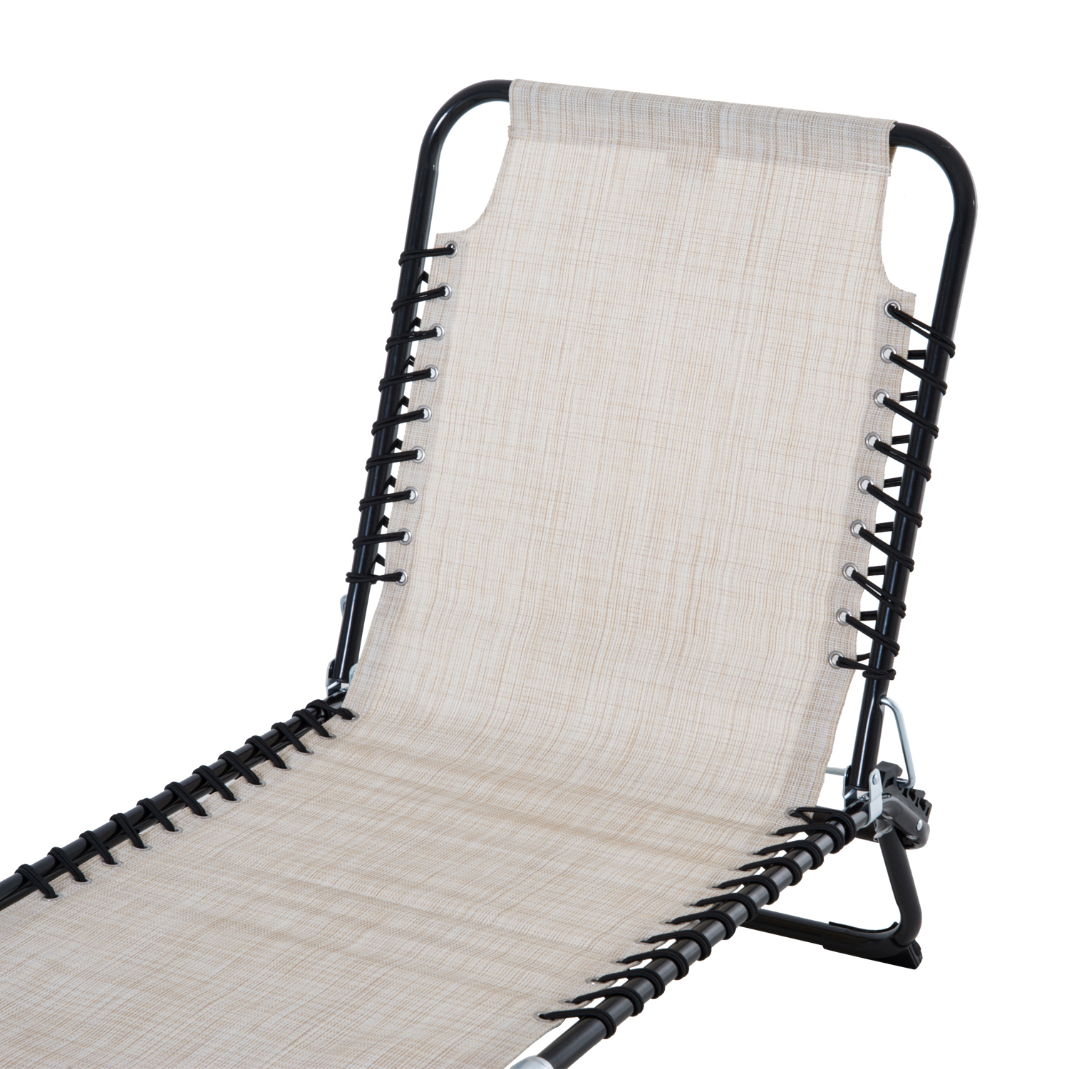 Newest Outsunny Portable 3 Position Reclining Folding Beach Chaise Lounge Chair In 3 Position Portable Reclining Beach Chaise Lounges (View 5 of 25)