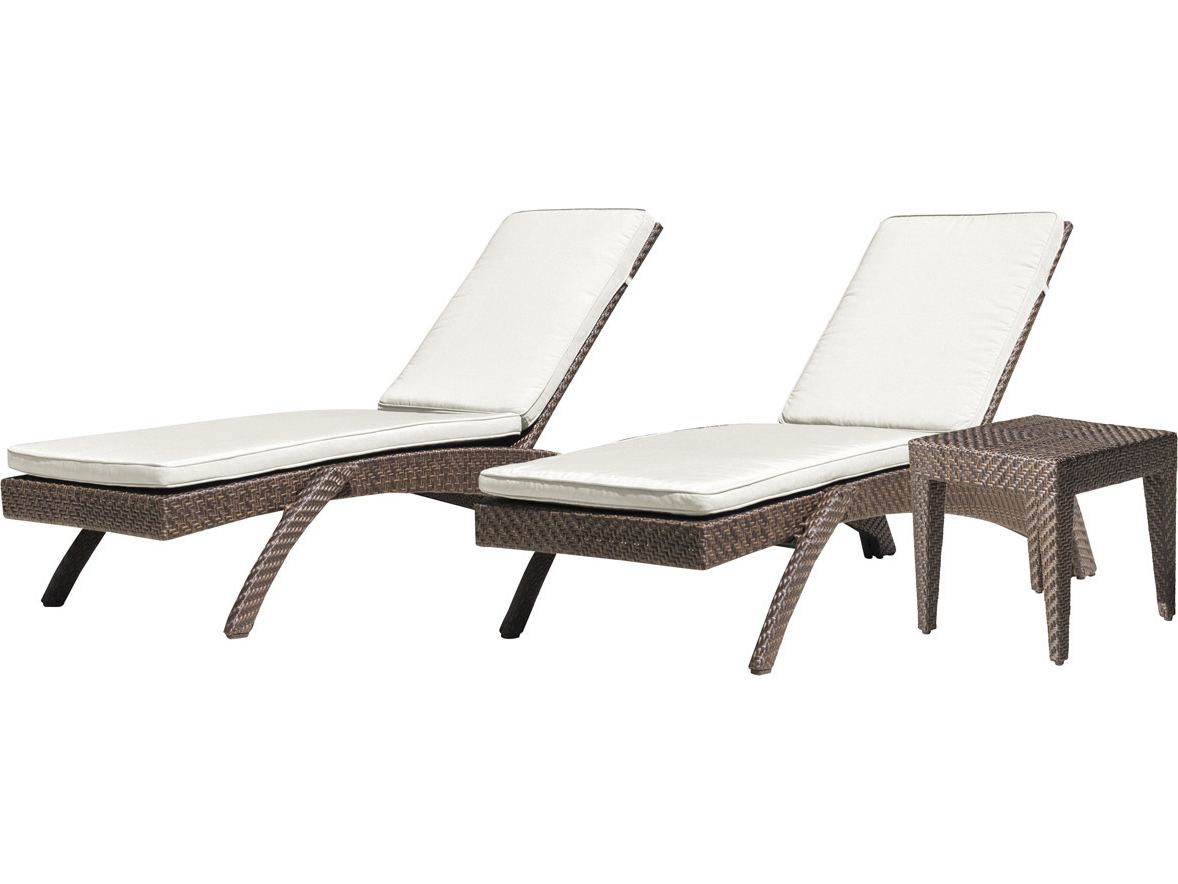 Newest Panama Jack Oasis Wicker Cushion Lounge Set Regarding Kauai Outdoor Wicker Chaise Lounges (Gallery 14 of 25)