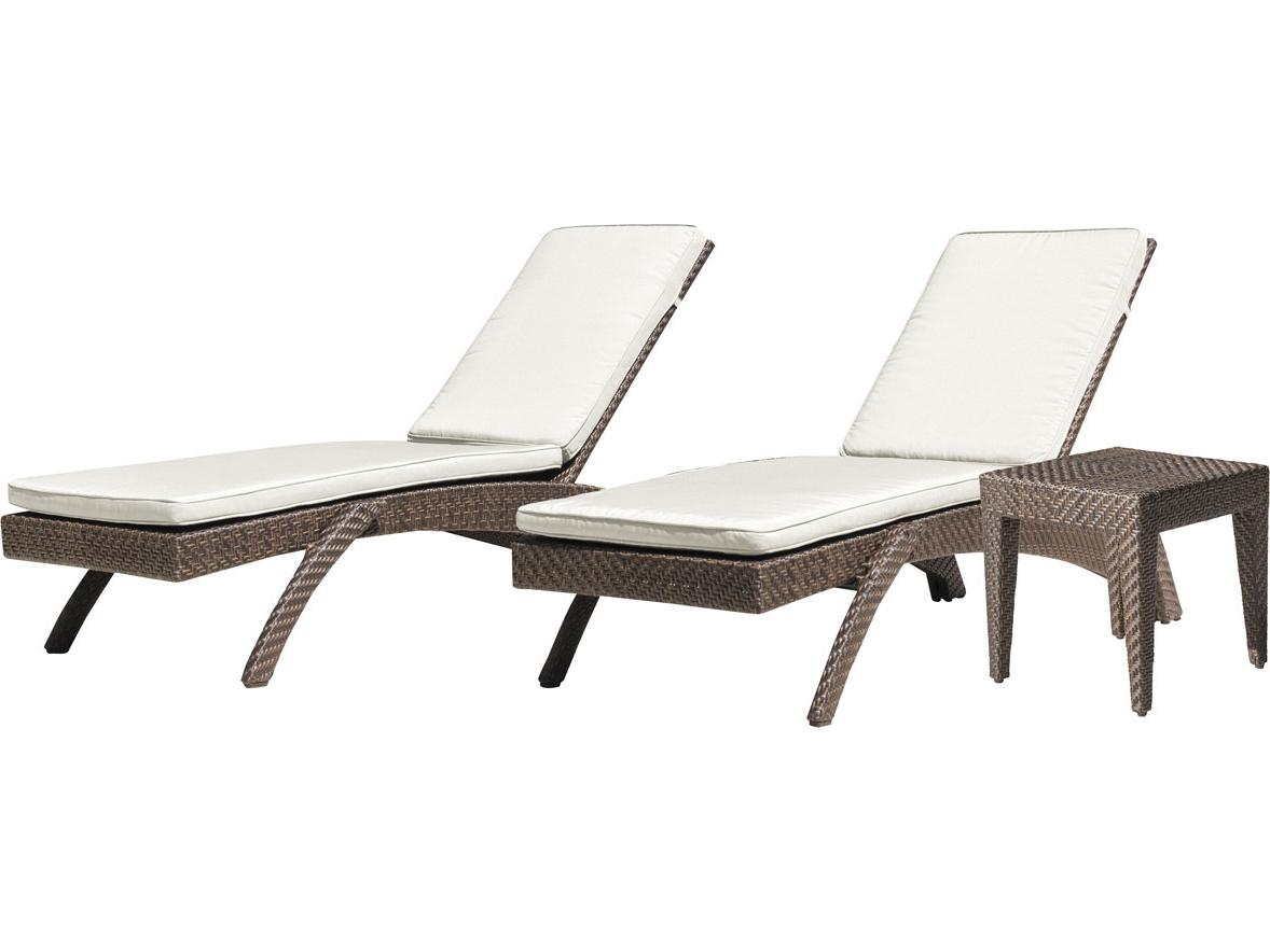 Newest Panama Jack Oasis Wicker Cushion Lounge Set Regarding Kauai Outdoor Wicker Chaise Lounges (View 21 of 25)