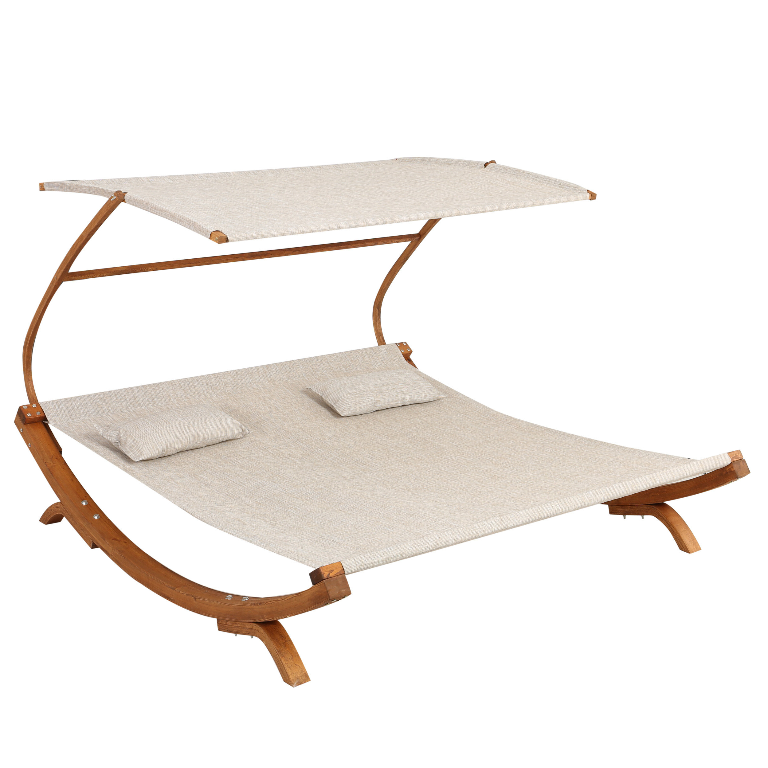 Newest Teak Chaise Loungers Throughout Tillis Double Teak Chaise Lounge With Cushion (Gallery 7 of 25)