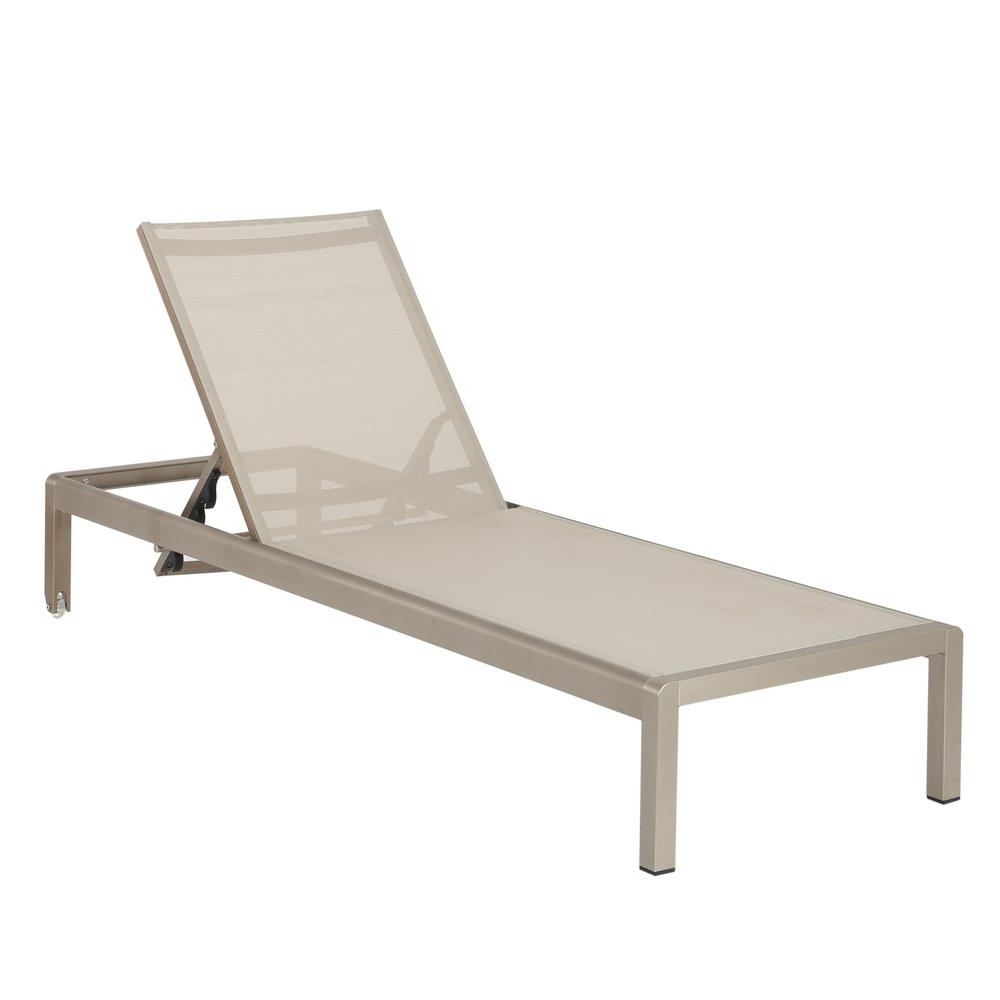 Noble House Cape Coral Silver 1 Piece Metal Outdoor Chaise Lounge Intended For Well Liked Cape Coral Outdoor Aluminum Chaise Lounges (View 5 of 25)