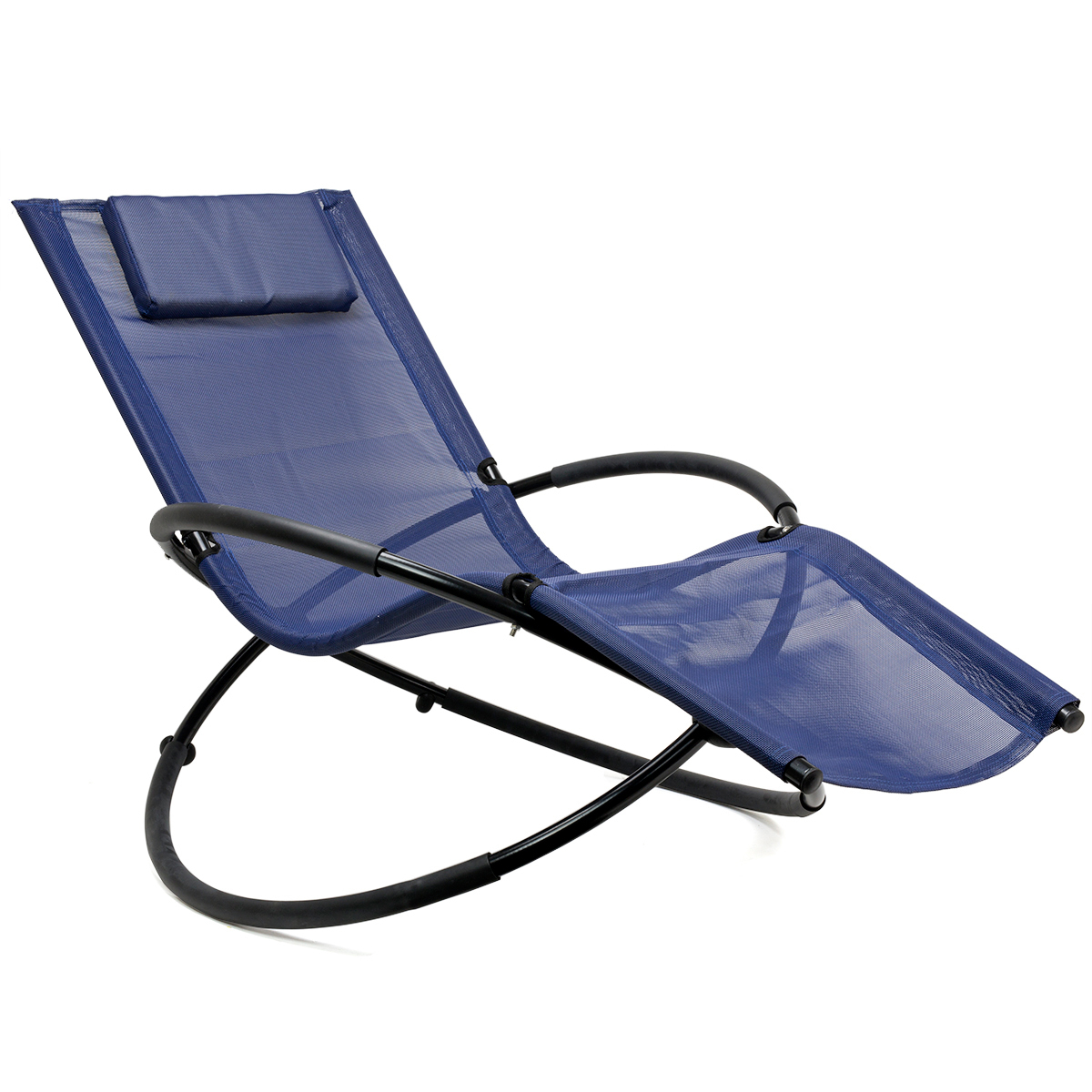 Orbital Patio Lounger Rocking Chairs Intended For Preferred Details About Folding Orbit Zero Gravity Chair Patio Garden Outdoor Lounger  Rocking  Navy (View 13 of 25)