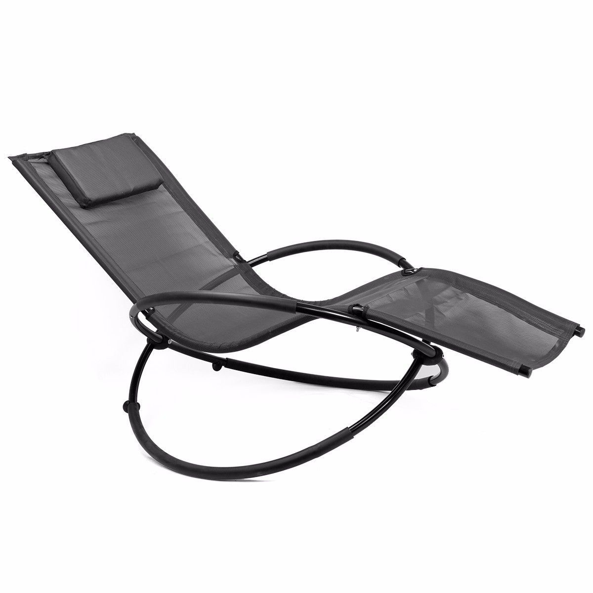Orbital Patio Lounger Rocking Chairs Pertaining To Preferred Details About Outdoor Folding Orbit Zero Gravity Chair Patio Garden Lounger  Rocking Relax Grey (View 15 of 25)