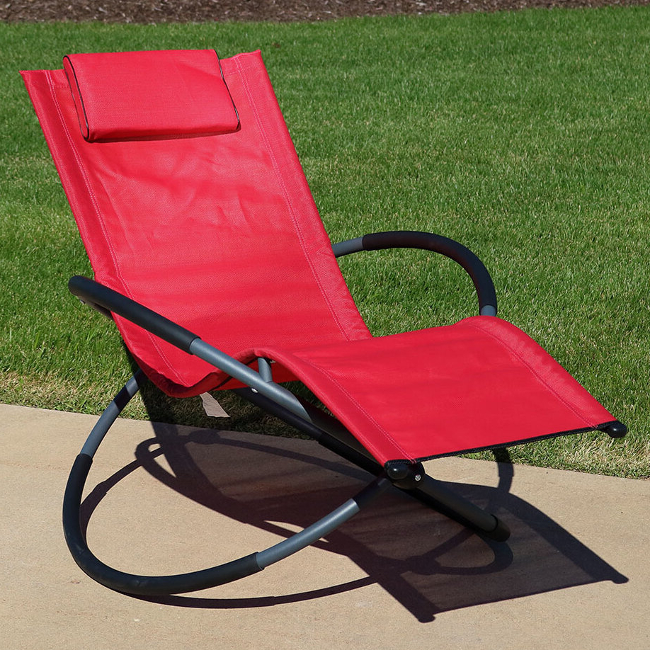 Orbital Patio Lounger Rocking Chairs With Regard To Most Recently Released Kortney Orbital Reclining Zero Gravity Chair (View 18 of 25)