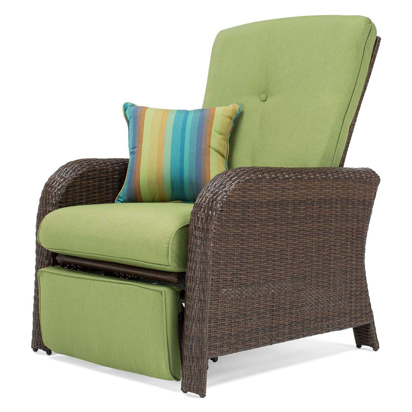 Outdoor Adjustable Rattan Wicker Recliner Chairs With Cushion Inside Most Current The 8 Best Outdoor Recliners Of (View 15 of 25)