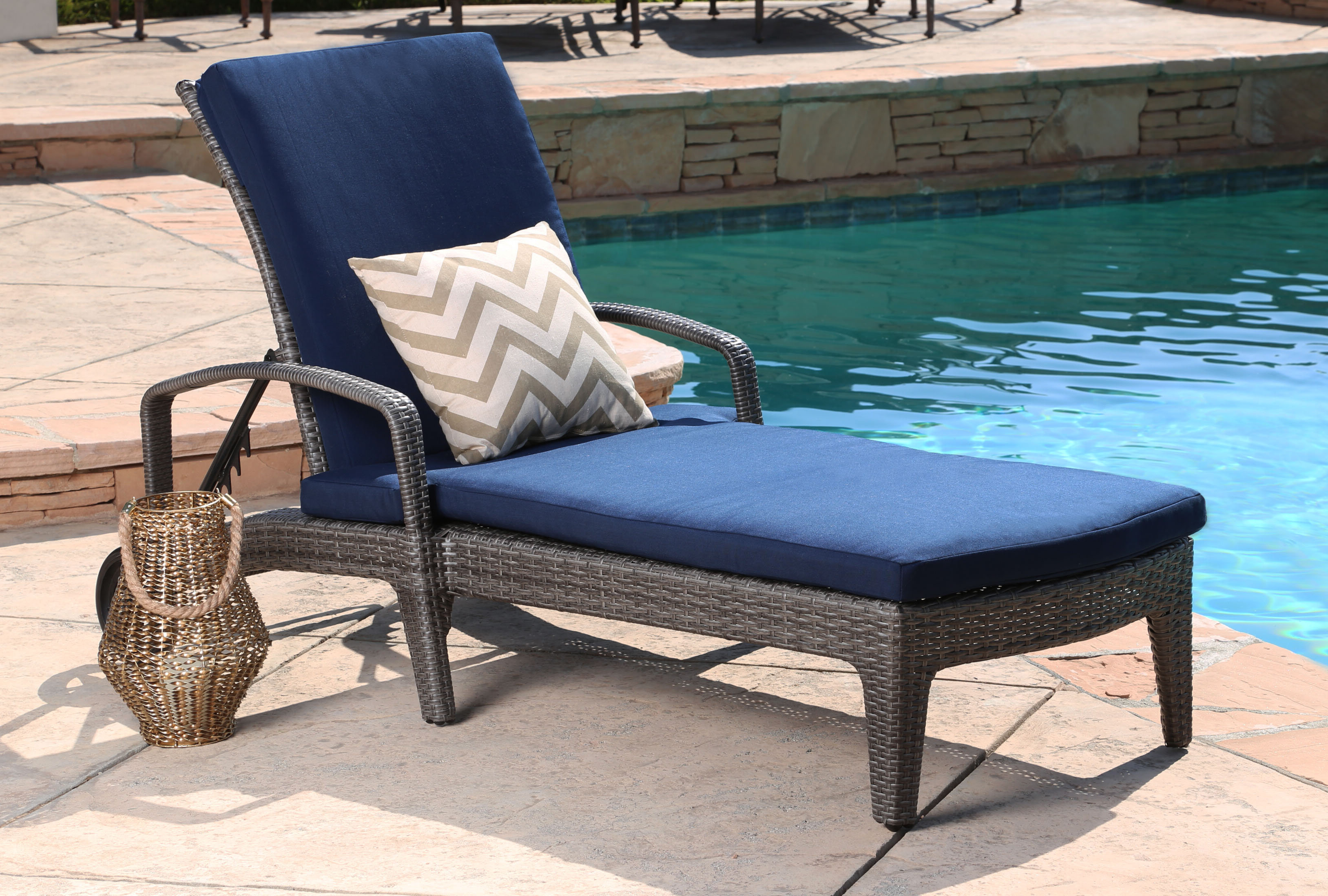 Outdoor Adjustable Reclining Wicker Chaise Lounges With Preferred Ostrowski Outdoor Wicker Adjustable Reclining Chaise Lounge (View 14 of 25)