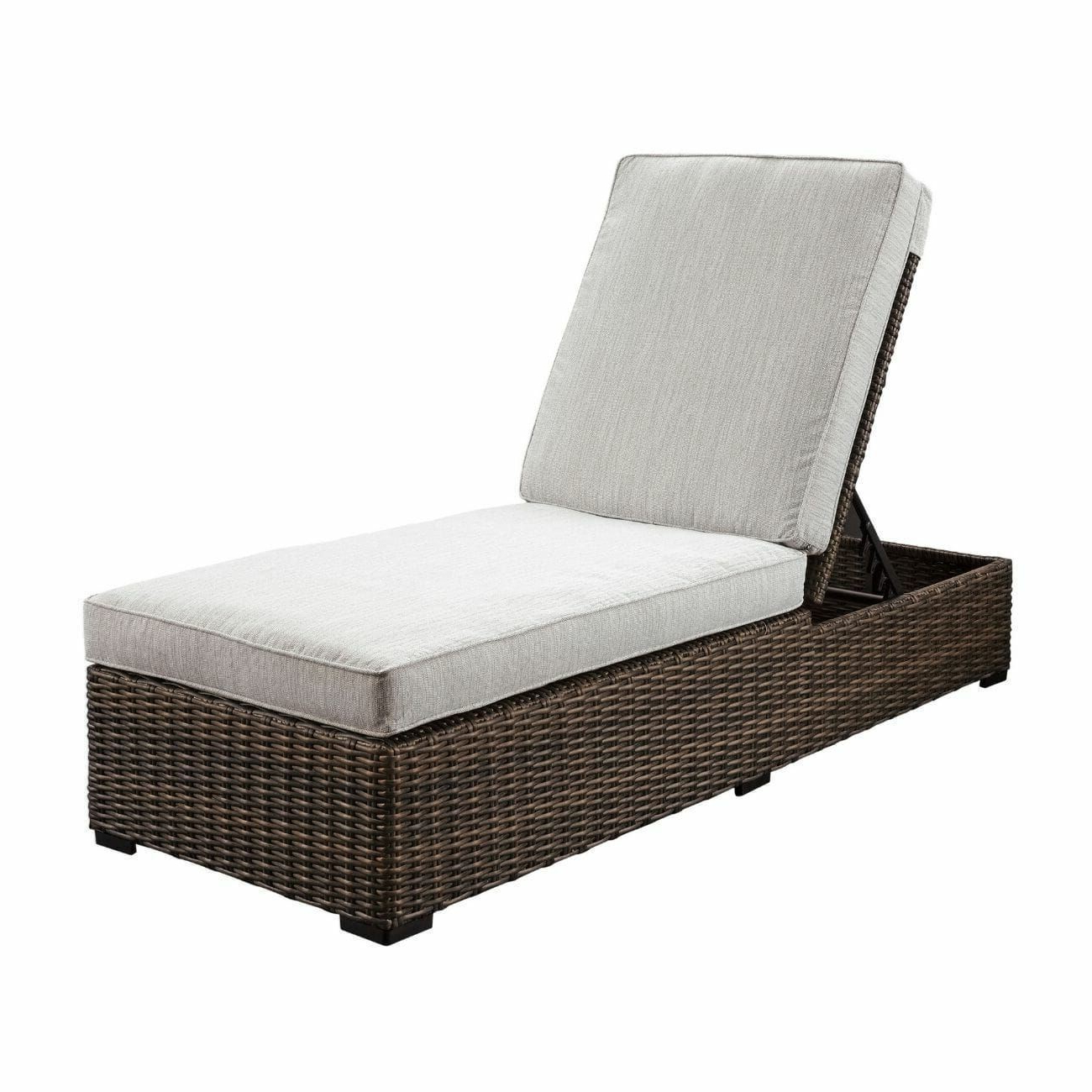 Outdoor Adjustable Reclining Wicker Chaise Lounges Within Popular Alta Grande Outdoor Chaise Lounge (View 16 of 25)