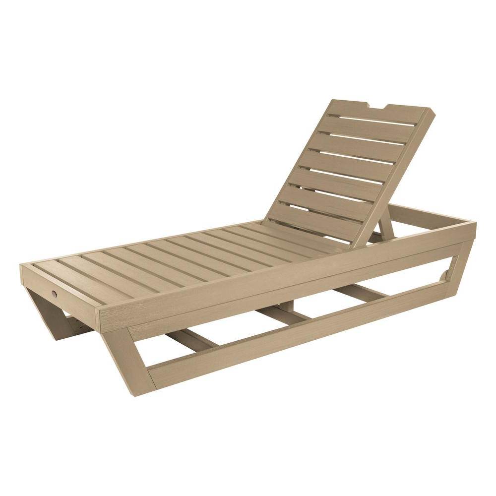 Outdoor Adjustable Wood Chaise Lounges Throughout Newest Highwood Laguna Tuscan Taupe Recycled Plastic Adjustable Outdoor Chaise Lounge (View 15 of 25)