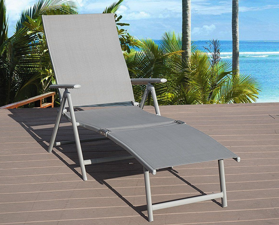 Outdoor Aluminum Adjustable Chaise Lounges Within Well Liked Kozyard Cozy Aluminum Beach Yard Pool Folding Reclining (View 7 of 25)