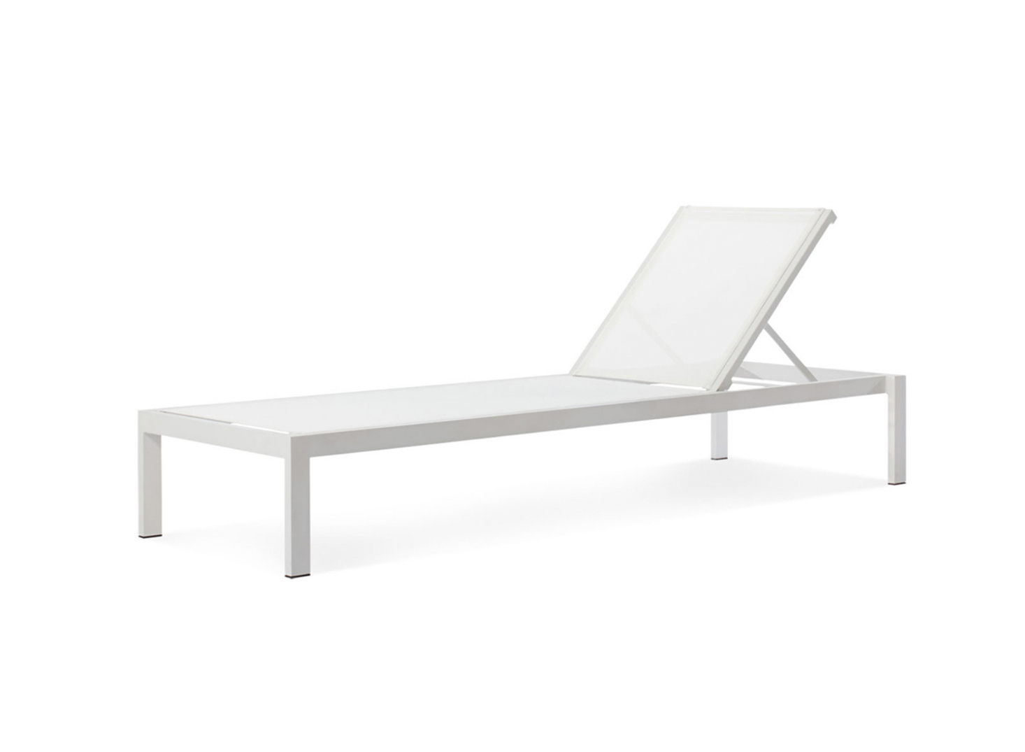 Outdoor Aluminum Chaise Lounges Inside Best And Newest 10 Easy Pieces: Modern White Outdoor Chaise Lounges – Gardenista (View 16 of 25)