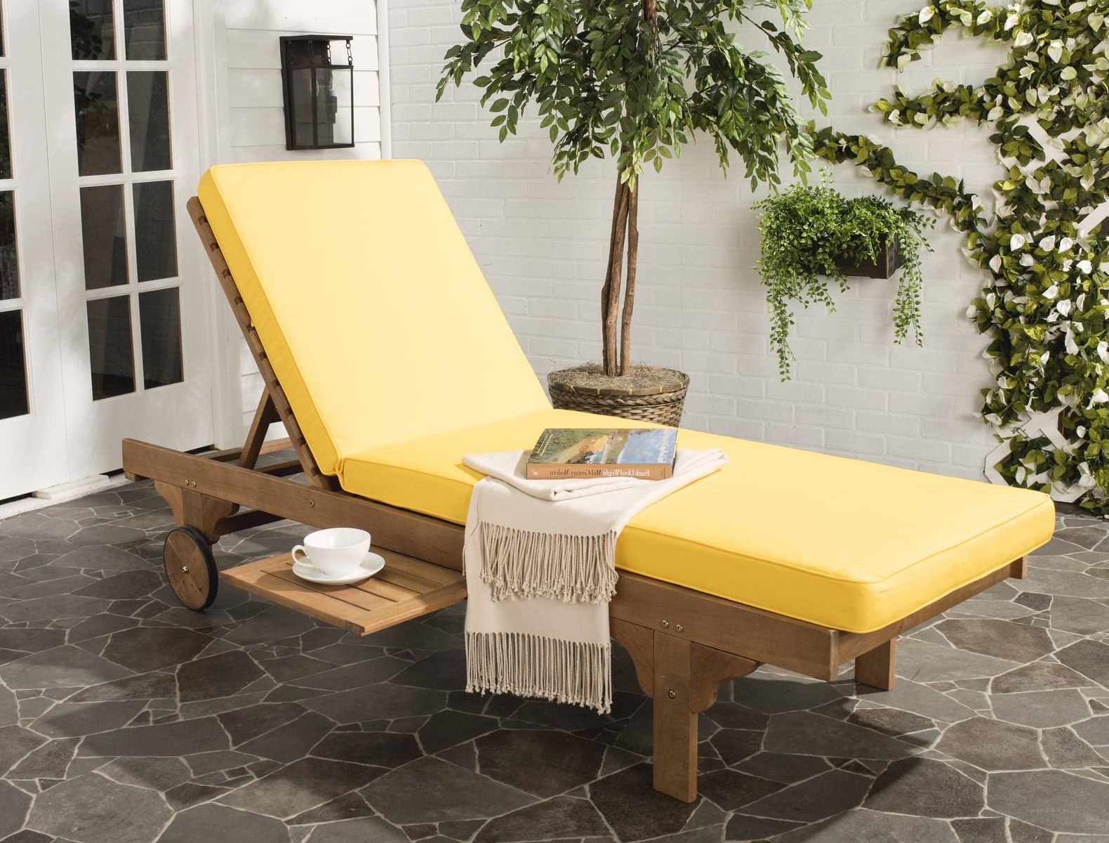 Outdoor Furnishings – Safavieh In Well Liked Brown Folding Patio Chaise Lounger Chairs (View 25 of 25)