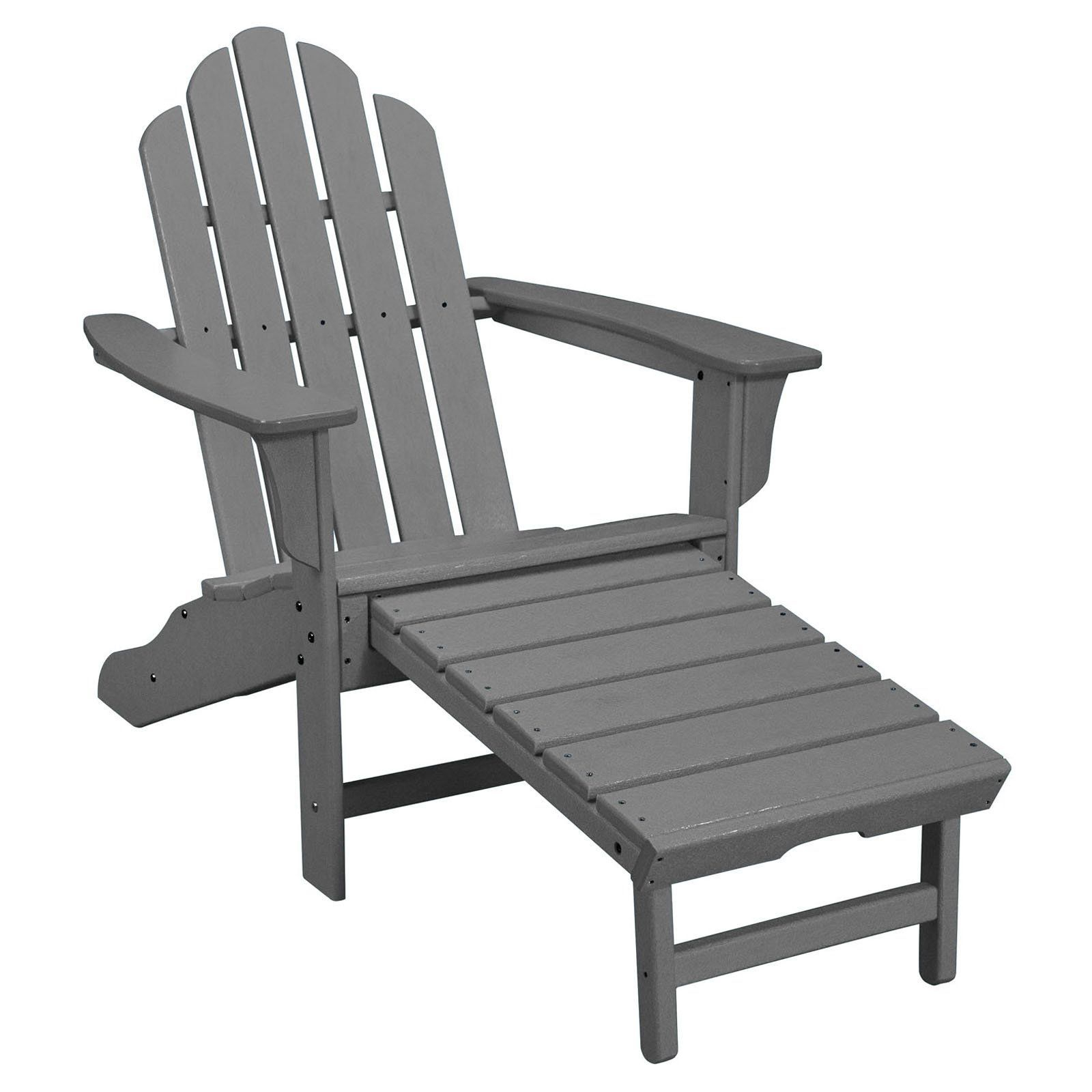 Outdoor Hanover All Weather Contoured Adirondack Chair With In Most Up To Date Mahogany Adirondack Chairs With Ottoman (View 3 of 25)