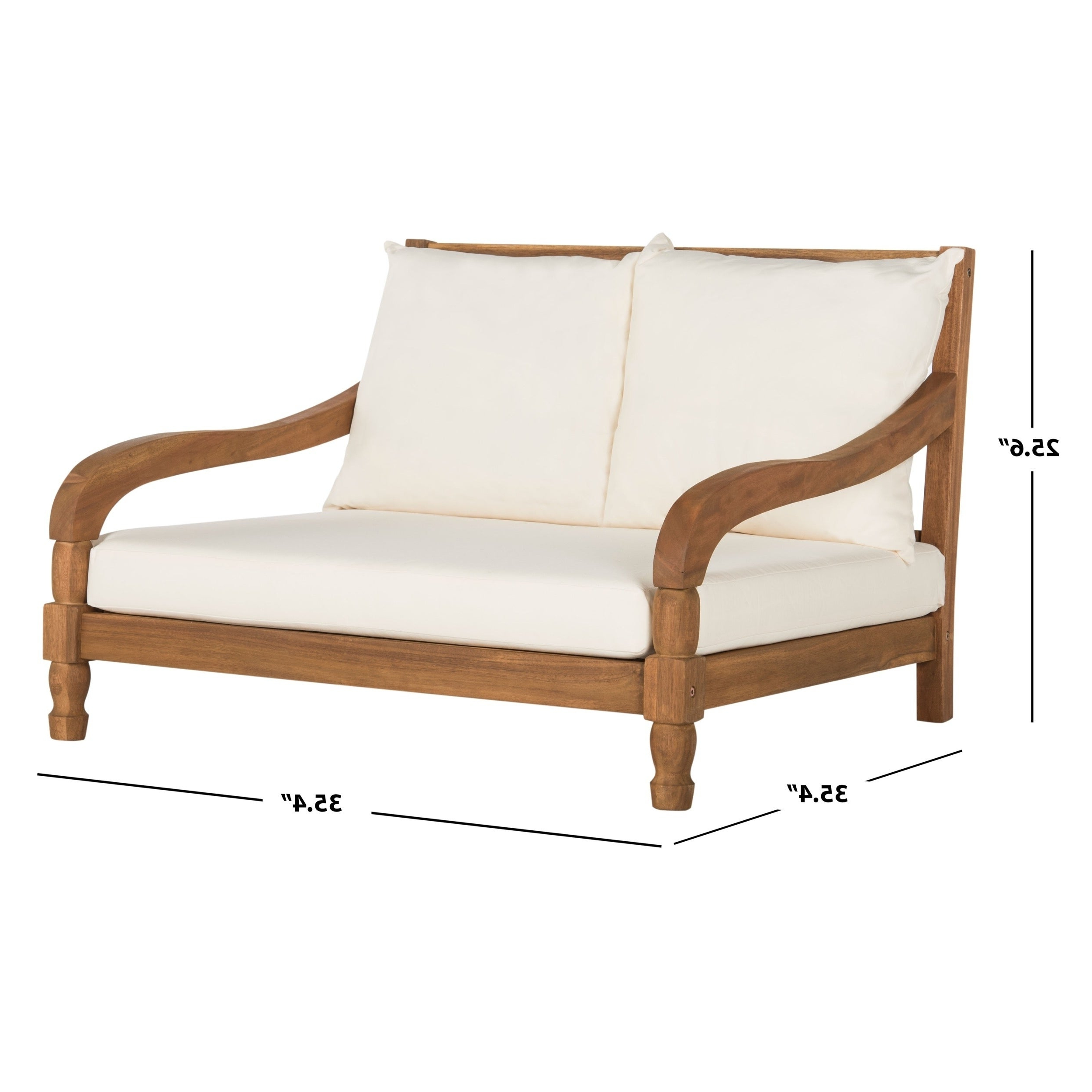 "Outdoor Living Pomona Loungers Inside Latest Safavieh Outdoor Living Pomona Brown/ Beige Lounger – 35.4"" X 35.4"" X  (View 10 of 25)"
