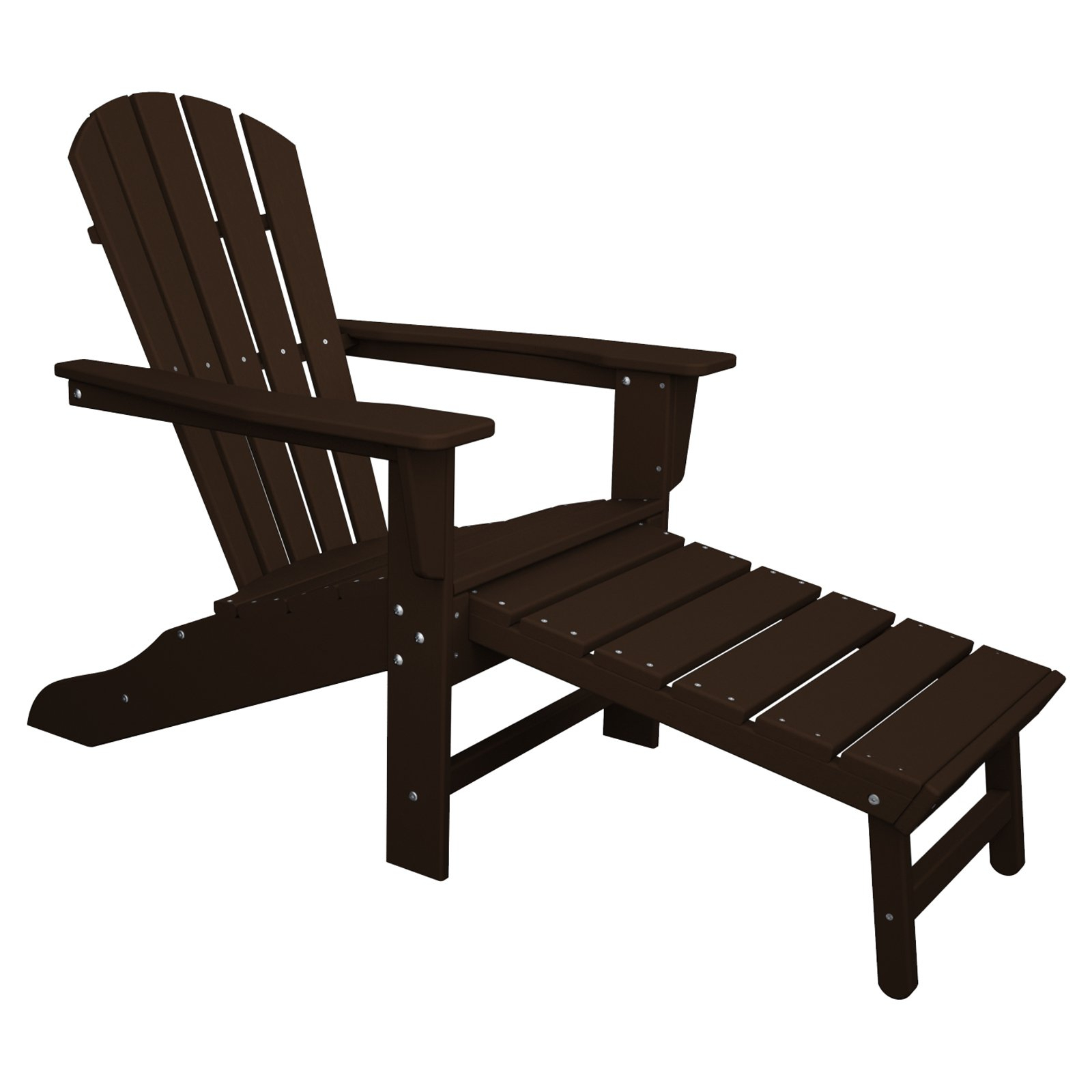 Outdoor Polywoodâ® South Beach Ultimate Adirondack Chair In Well Liked Mahogany Adirondack Chairs With Ottoman (View 10 of 25)