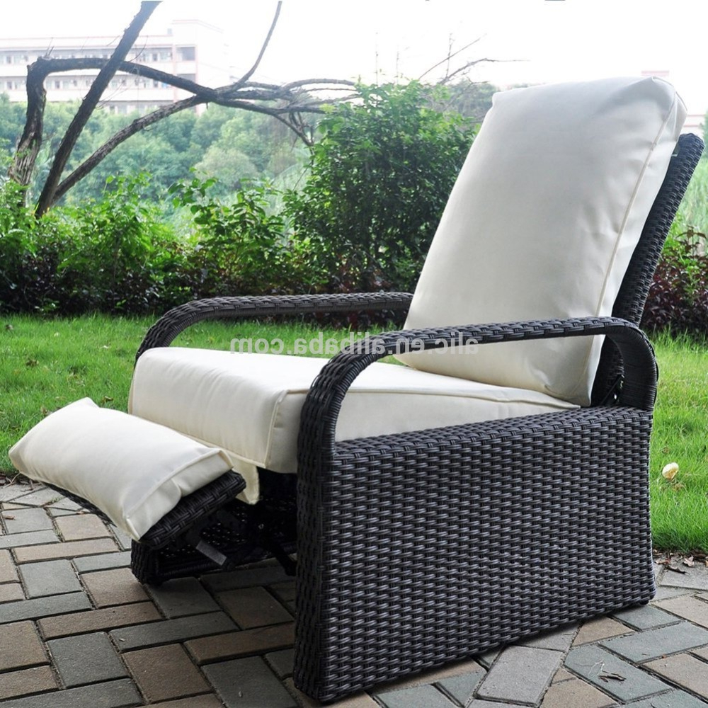 Outdoor Resin Wicker Patio Recliner Chair With Cushions,art To Real Patio Furniture Auto Adjustable Rattan Sofa – Buy Reclining Chair With With Regard To Fashionable Outdoor Adjustable Rattan Wicker Recliner Chairs With Cushion (Gallery 1 of 25)