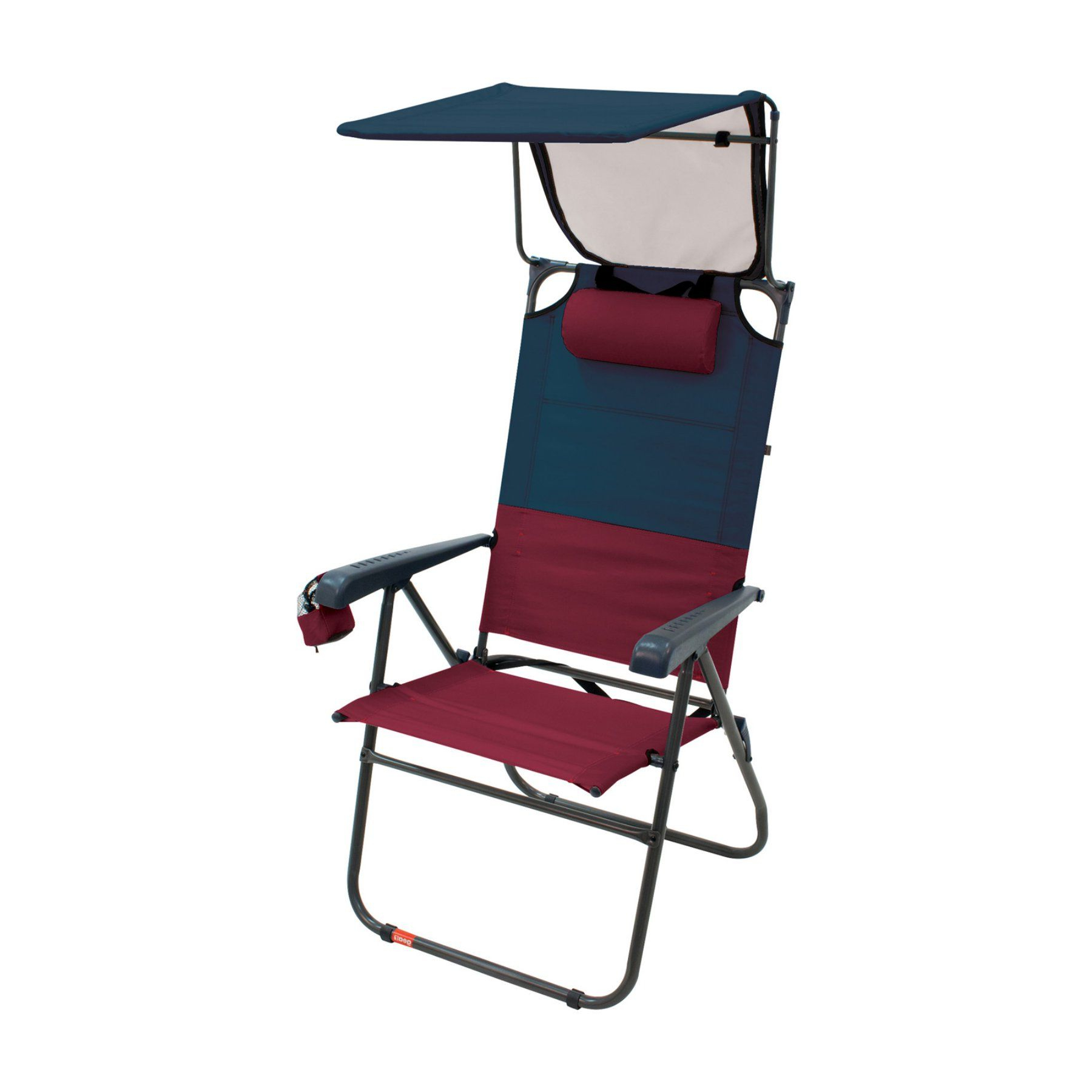 Outdoor Rio Gear Hi Boy Aluminum Canopy Beach Chair Blue Sky With 2020 Deluxe Padded Chairs With Canopy And Tray (Gallery 14 of 25)