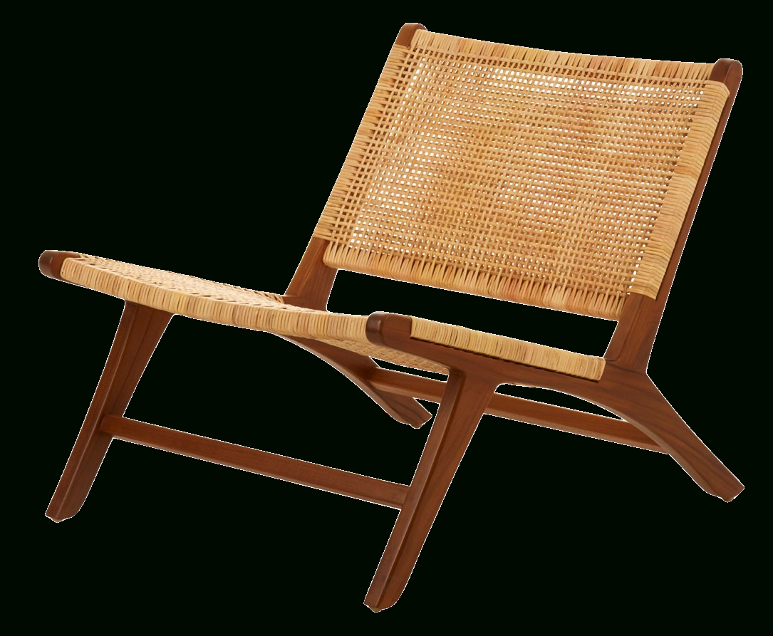 Outdoor Rustic Acacia Wood Chaise Lounges With Wicker Seats Within Fashionable Lagoon Collections Anson Boho Outdoor Garden Lounge Chair With Rattan Seat  And Teakwood Frame (View 20 of 25)