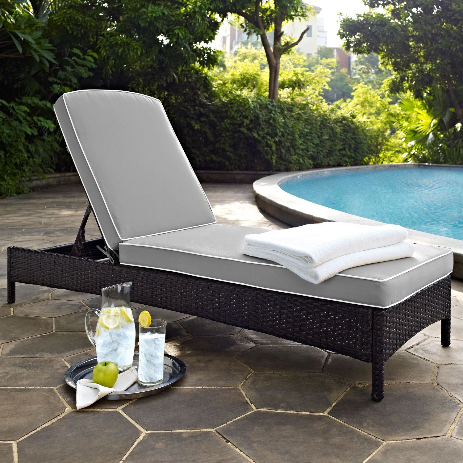 Outdoor Wicker Chaise Lounge Chairs For Favorite Palm Harbor Outdoor Wicker Chaise Lounge In Brown (View 13 of 25)
