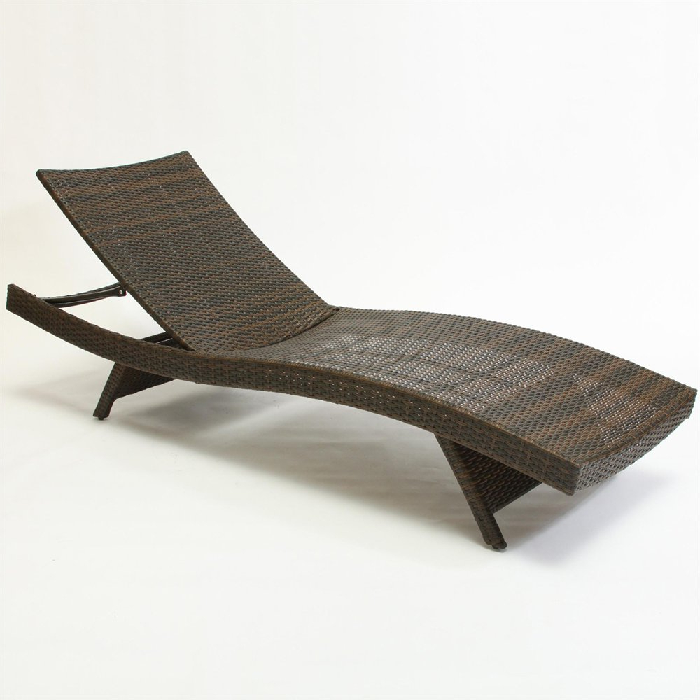Outdoor Wicker Chaise Lounge Chairs Inside Famous Best Selling Home Decor 234420 Outdoor Wicker Lounge Chair (View 18 of 25)