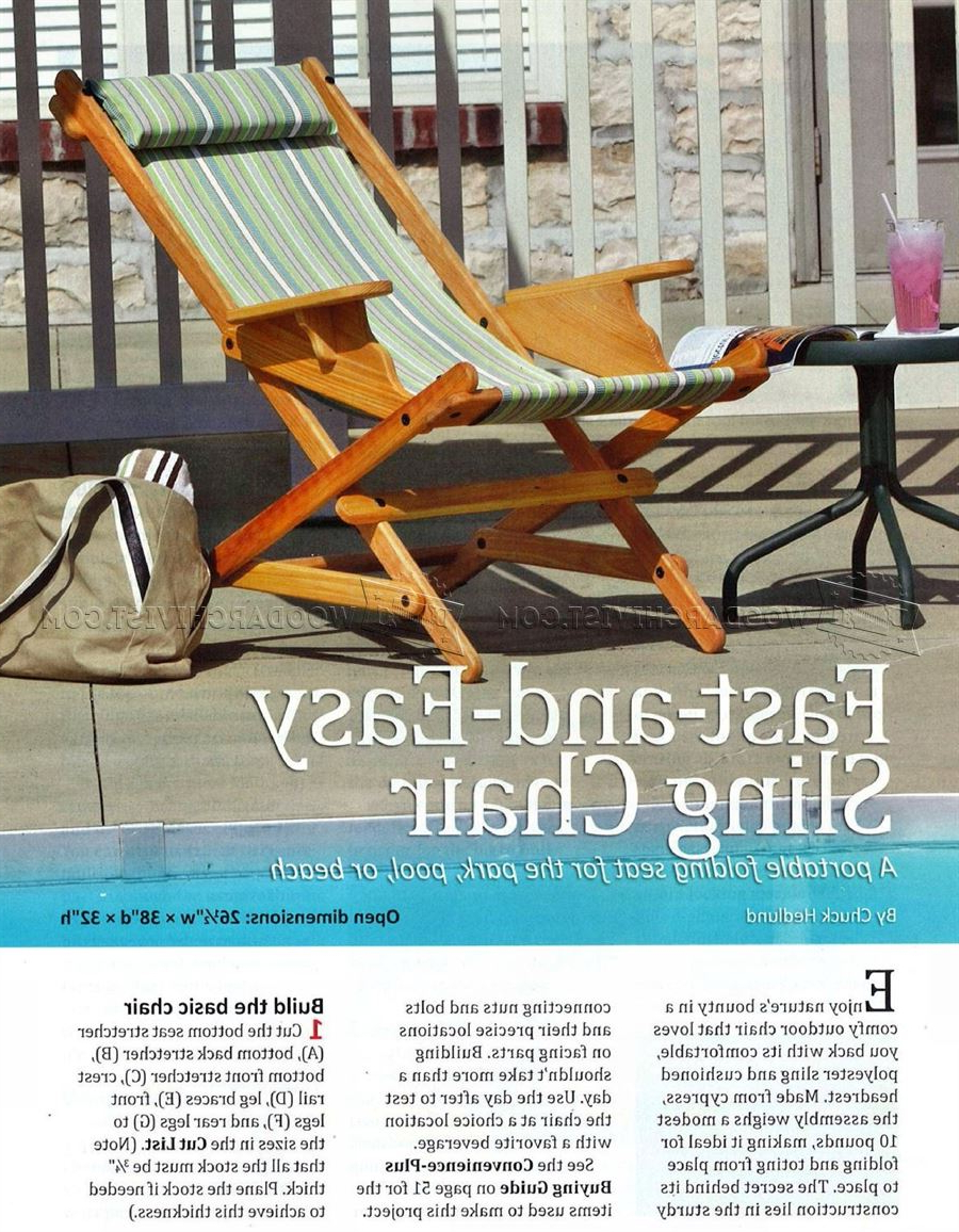 Outdoor Wood Sling Chairs Intended For Well Liked Sling Chair Plans • Woodarchivist (View 13 of 25)