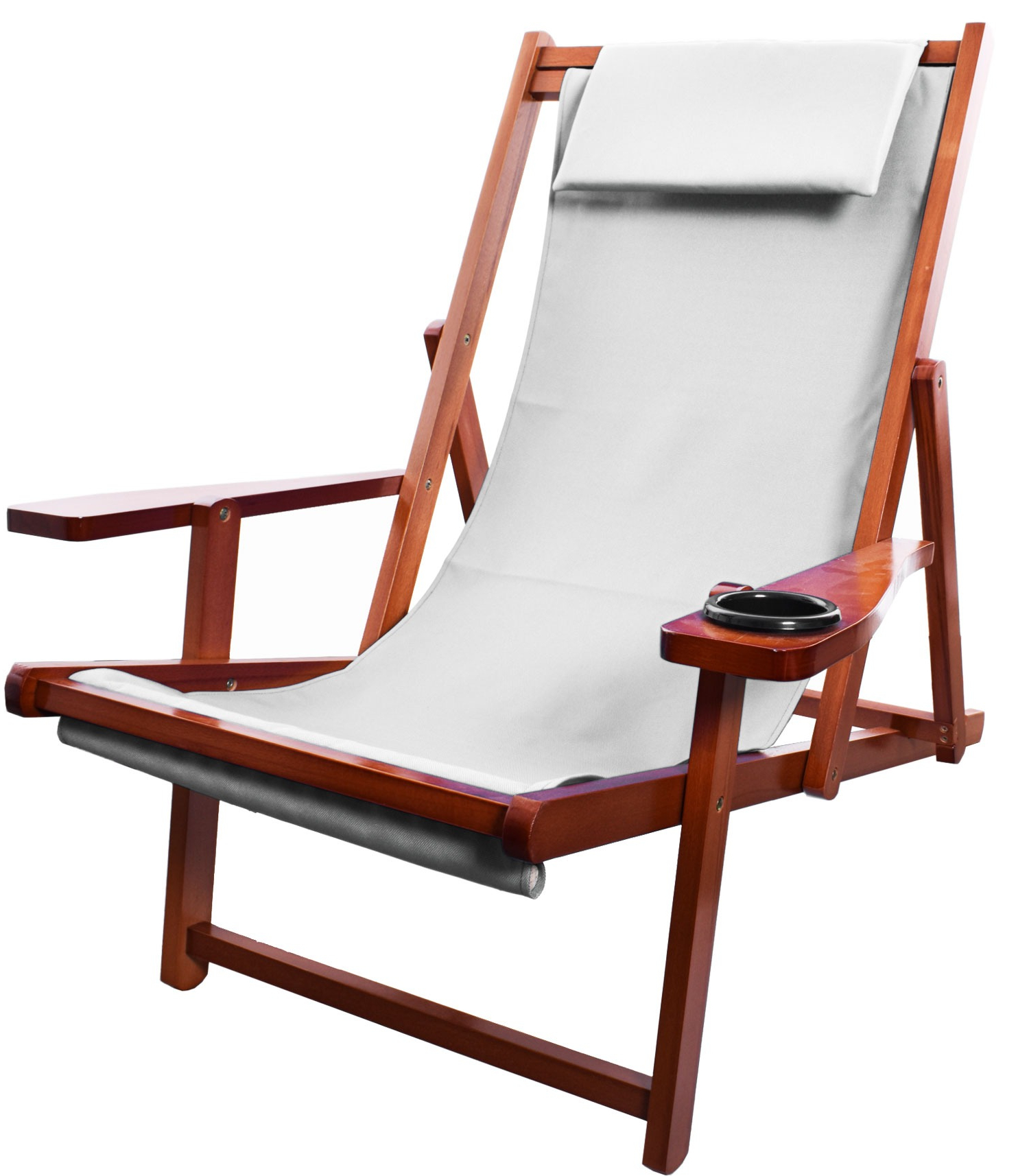 Outdoor Wood Sling Chairs Regarding Most Current Style# 01Sling – Wood Sling Chair – Peerless Umbrella (View 15 of 25)