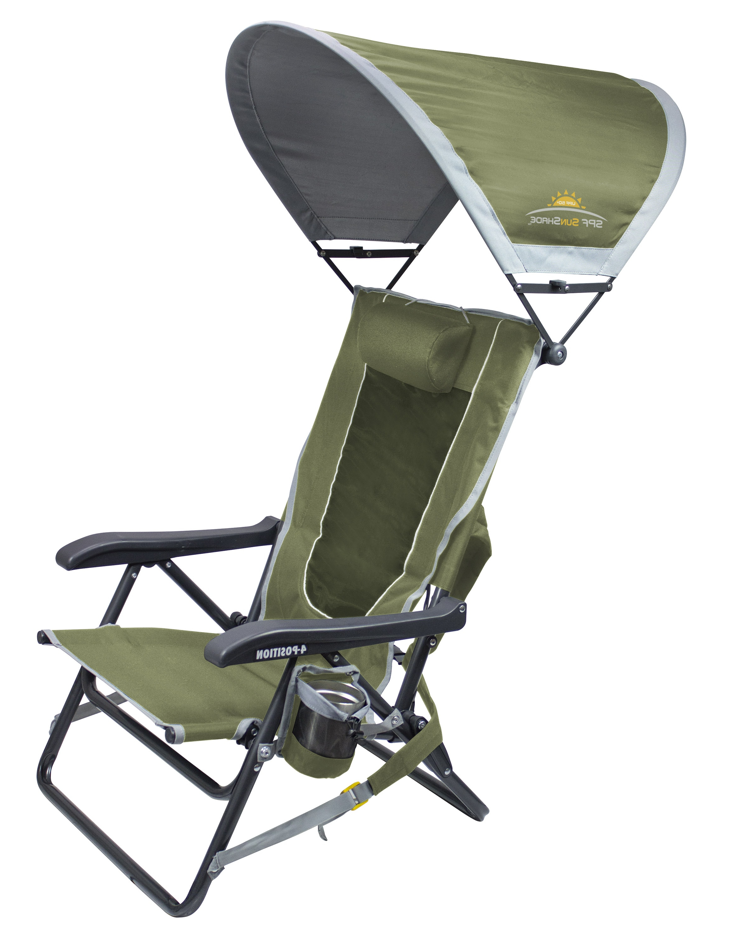 Oversized Extra Large Chairs With Canopy And Tray Regarding Latest Sunshade Backpack Event Chair™ (View 18 of 25)