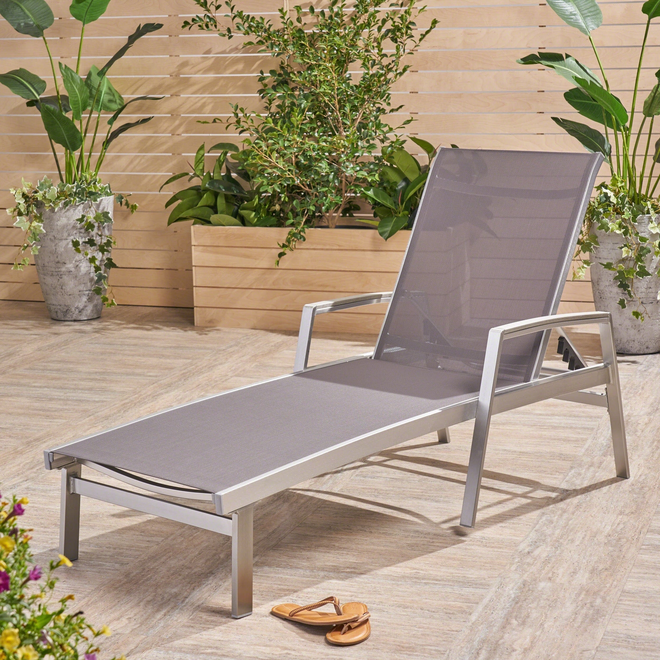 Oxton Outdoor Aluminum Chaise Loungechristopher Knight Home With Regard To Well Known Outdoor Aluminum Adjustable Chaise Lounges (View 10 of 25)