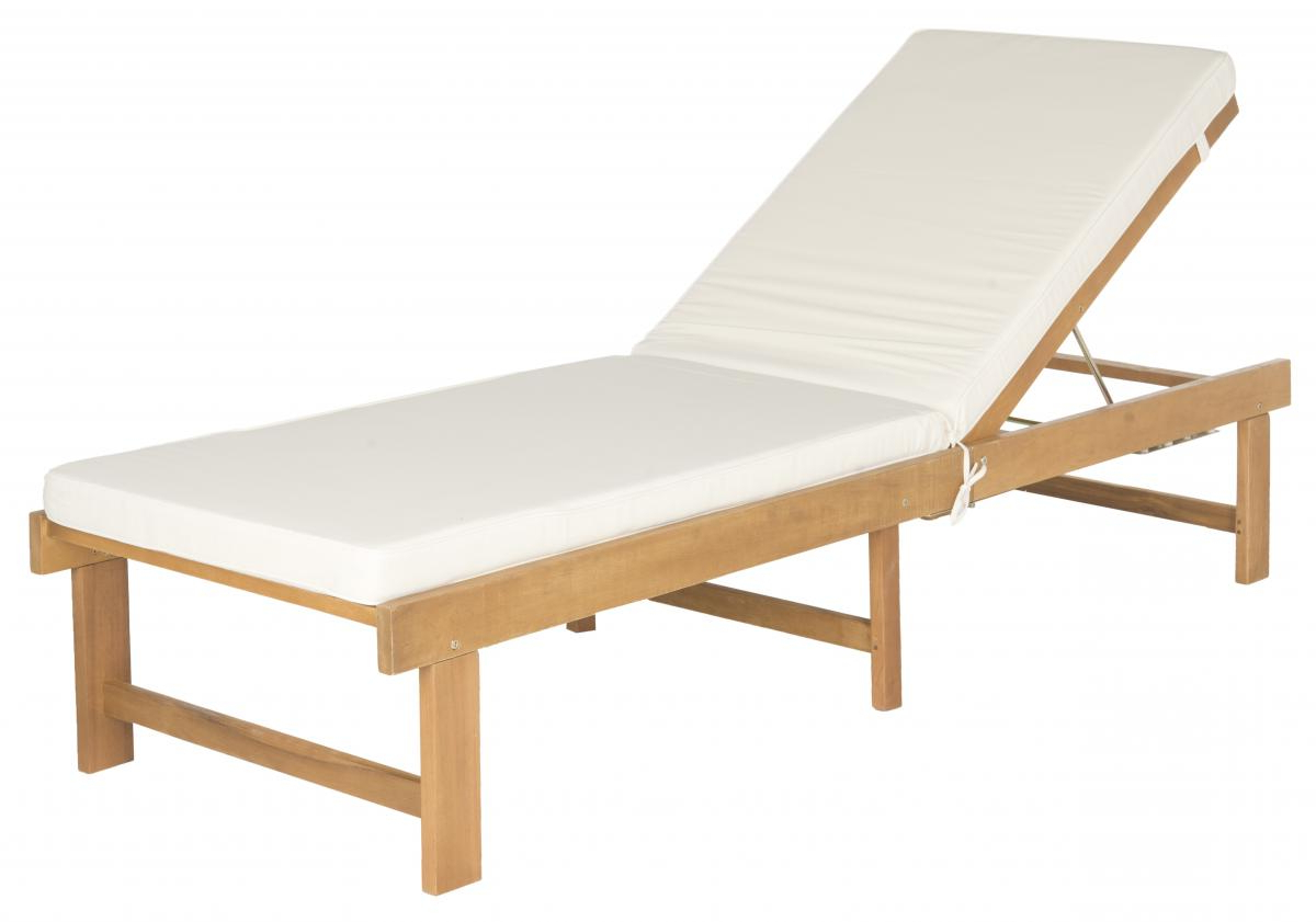 Pat6723A Outdoor Chaise Loungers – Furnituresafavieh Regarding Most Popular Oudoor Modern Acacia Wood Chaise Lounges With Cushion (Gallery 22 of 25)