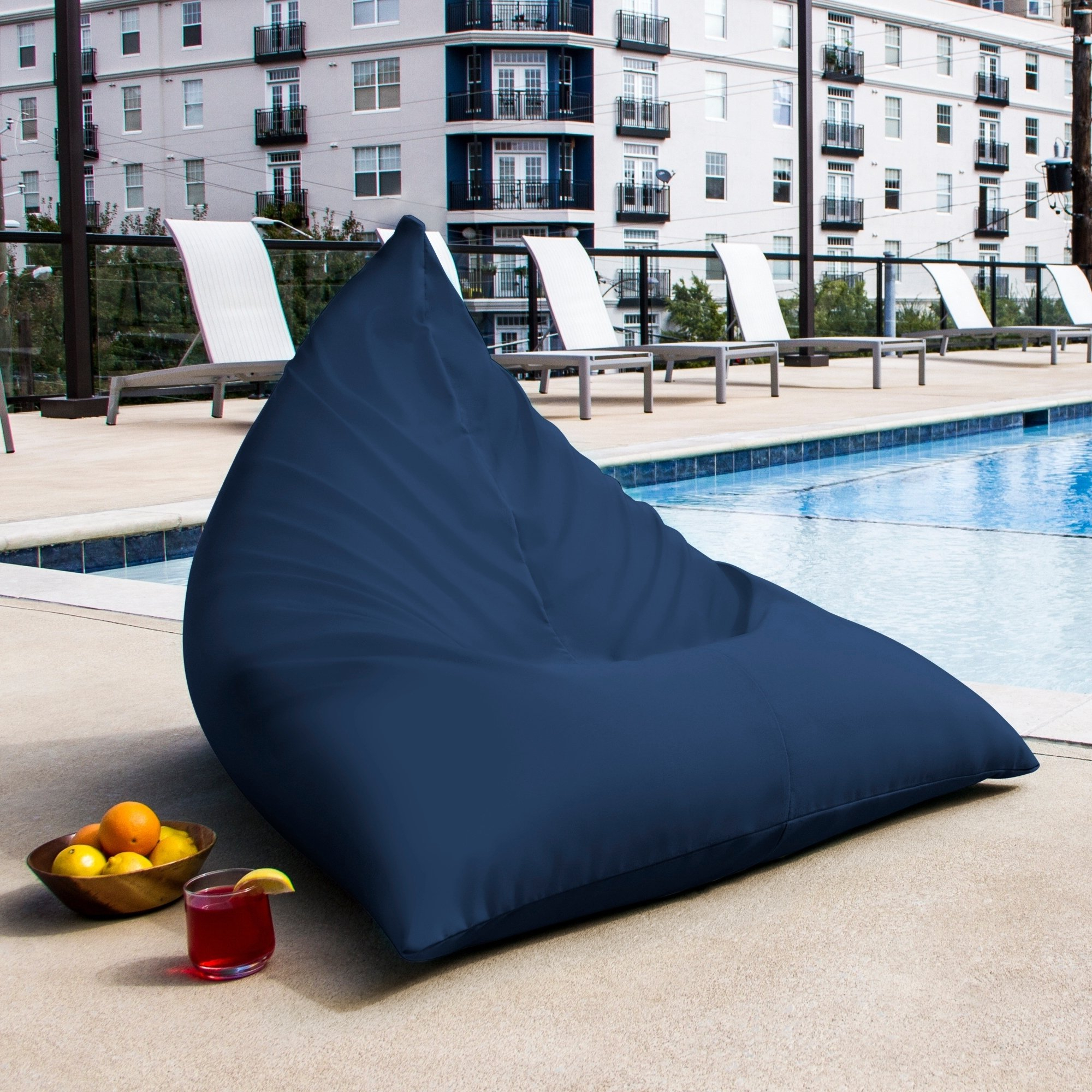 Patio Bean Bag Chaise Lounges Within Fashionable Jaxx Twist Outdoor Patio Bean Bag Chair (lagoon – Solid (View 23 of 25)