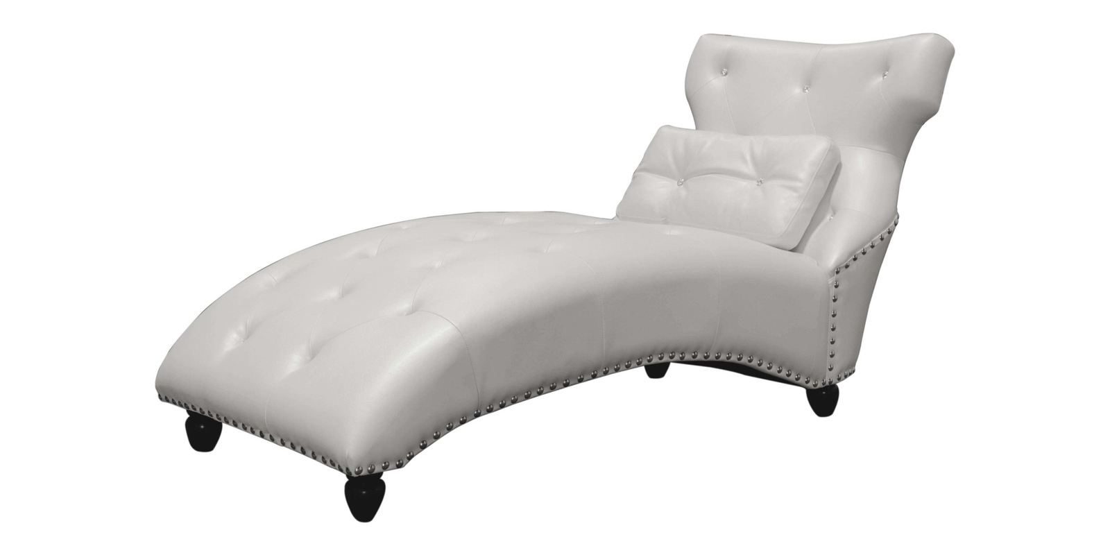 Pearl Chaise Lounges With Newest Modish Lounge Chaise In Pearl White Leatherette (View 11 of 25)
