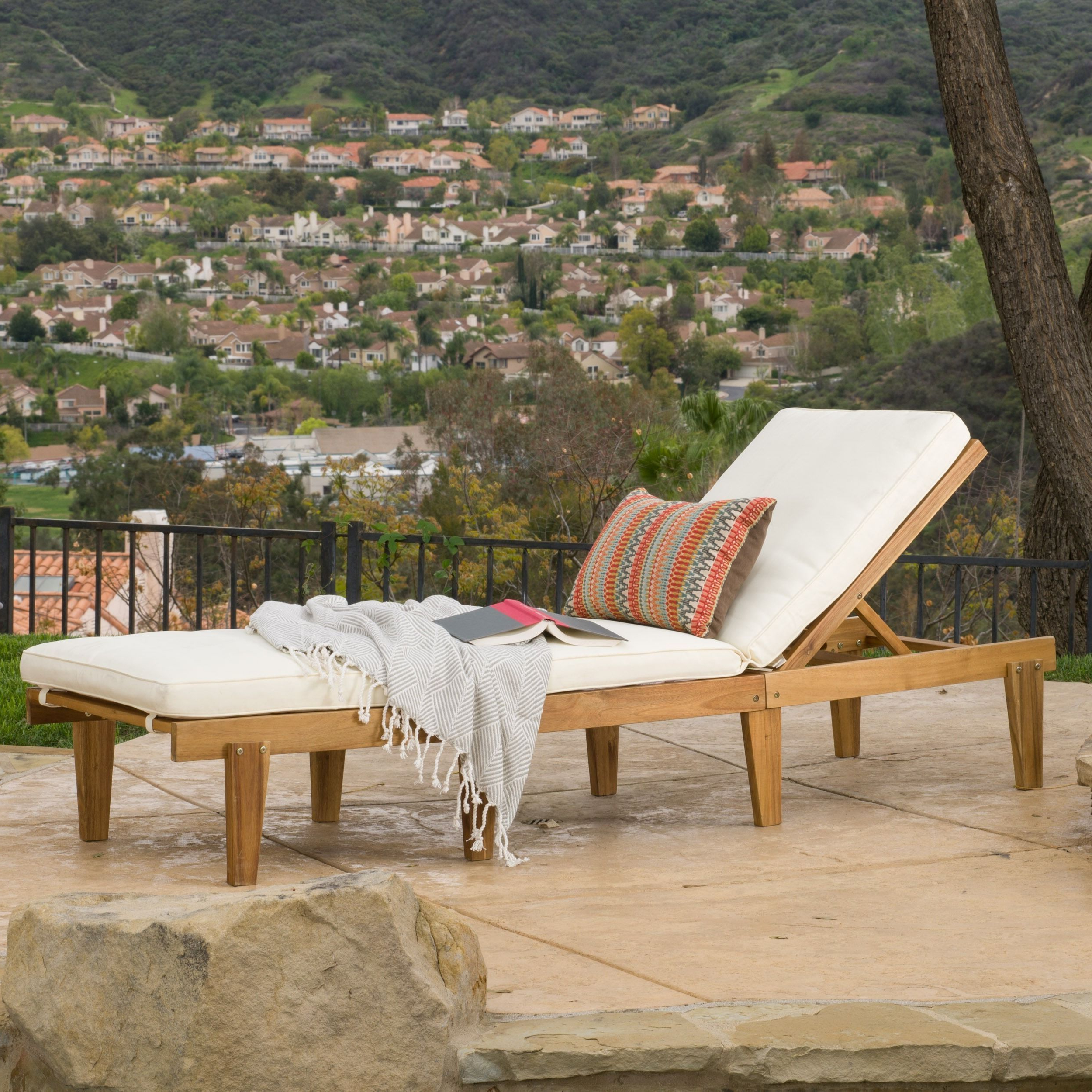 Perla Outdoor Acacia Wood Chaise Lounges With Current The Christopher Knight Home Ariana Chaise Lounge Makes For (View 25 of 25)