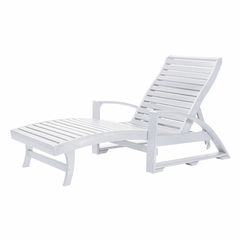 Plastic Chaise Lounges W/ Wheels With Most Up To Date Cr Plastic Products – St Tropez Chaise Lounge W/wheels In White – L38 (View 8 of 25)