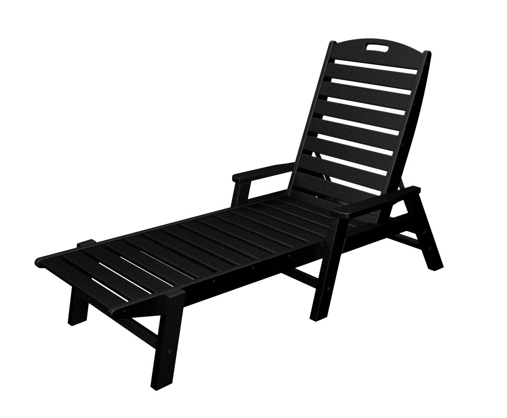 Polywood® Nautical Chaise W/ Arms – Stackable – Amish Yard With Famous Stackable Nautical Outdoor Chaise Lounges (View 13 of 25)