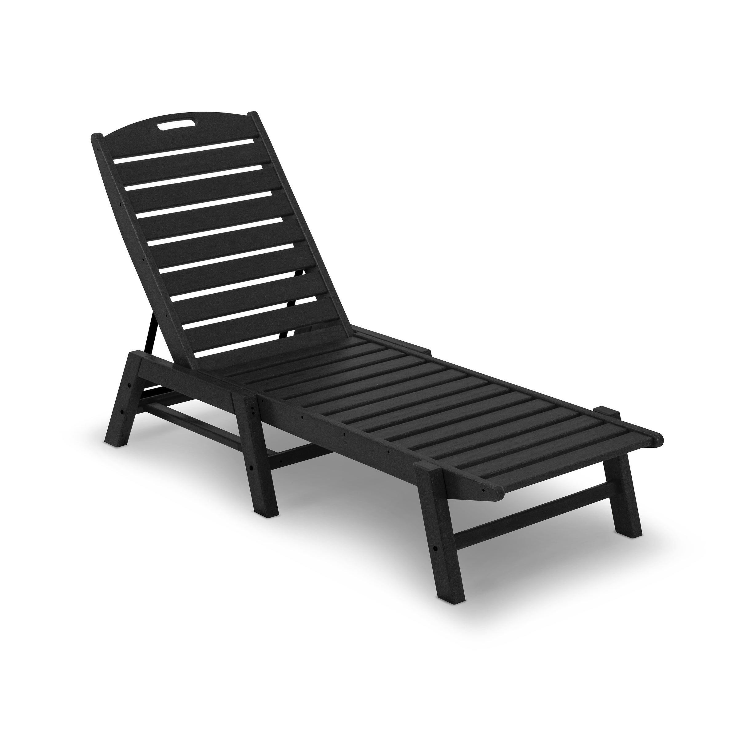 Polywood® Nautical Outdoor Chaise Lounge, Stackable With Regard To Current Stackable Nautical Outdoor Chaise Lounges (View 14 of 25)
