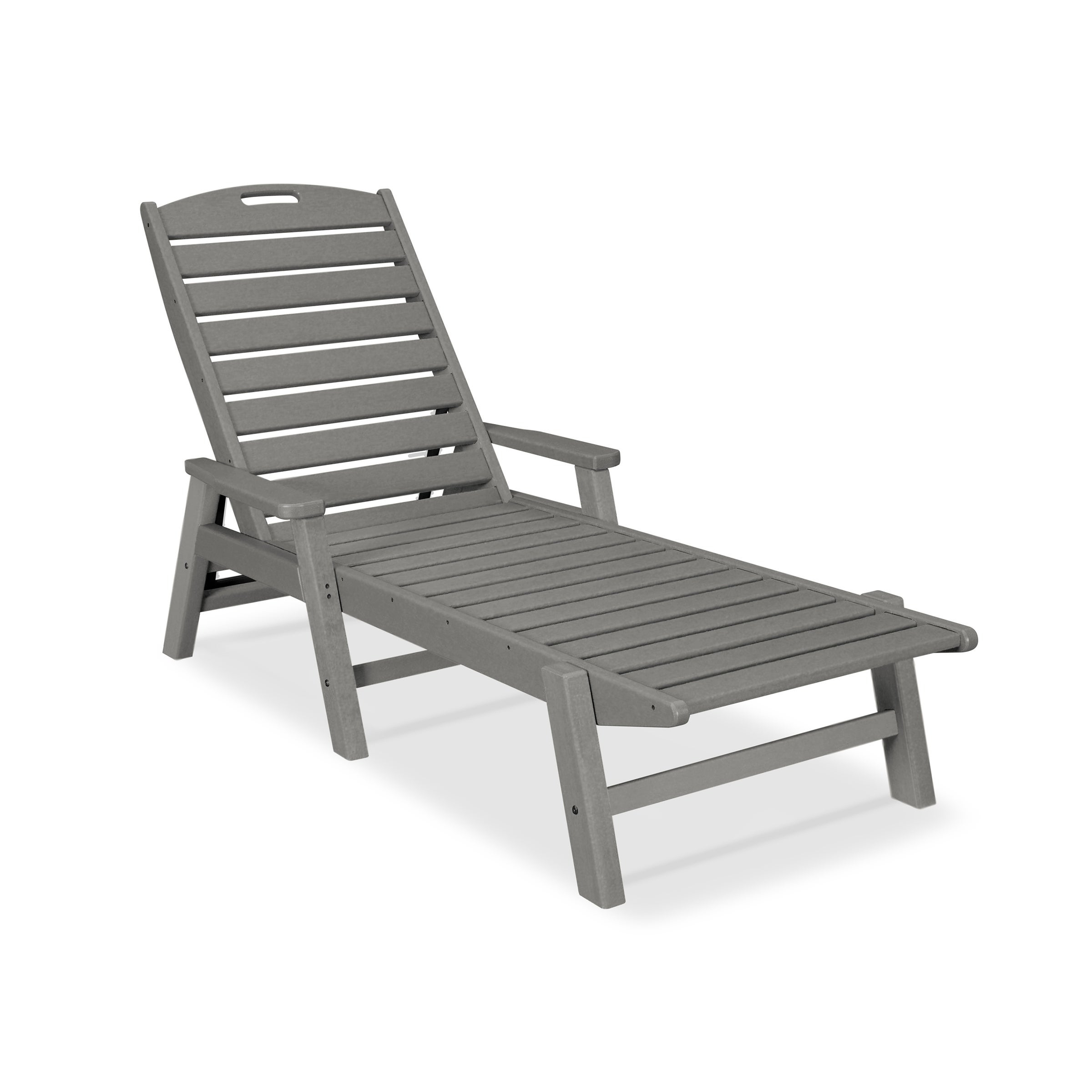 Polywood® Nautical Outdoor Chaise Lounge With Arms, Stackable, Ncc2280 Throughout Famous Nautical Outdoor Chaise Lounges With Arms (View 3 of 25)