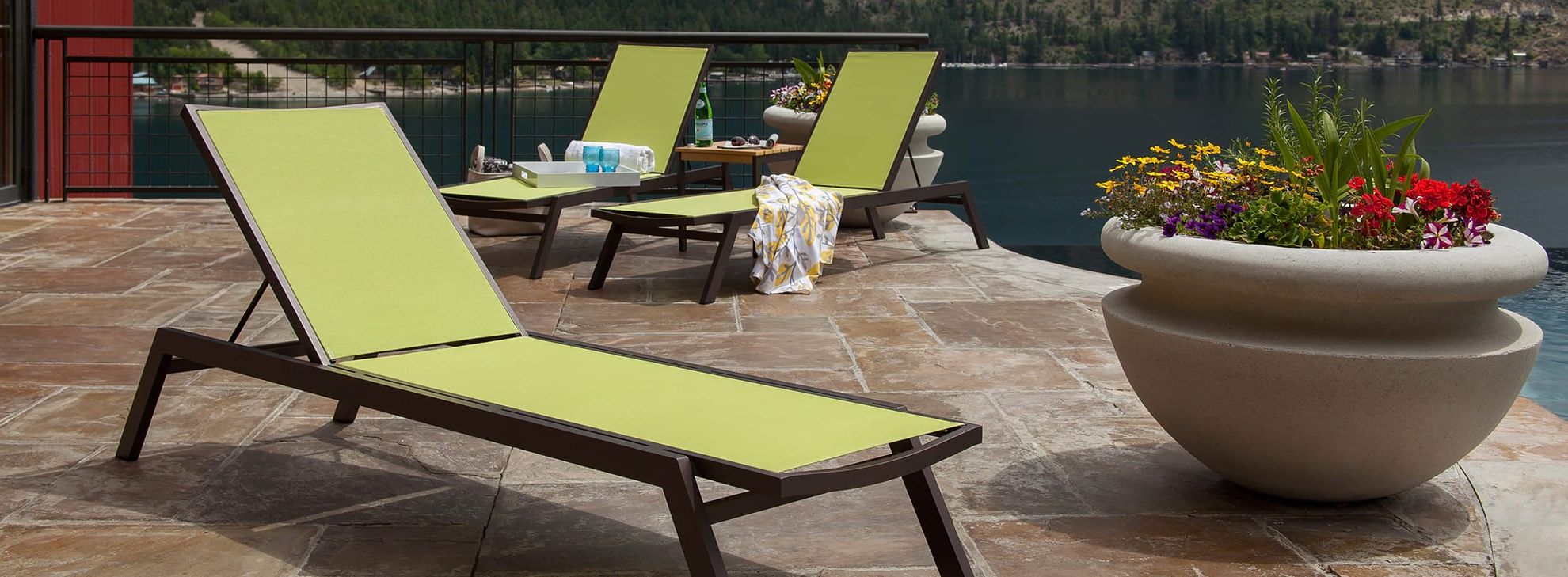 Polywood® Official Store Intended For Wood Blue And White Cushion Outdoor Chaise Lounge Chairs (View 16 of 25)