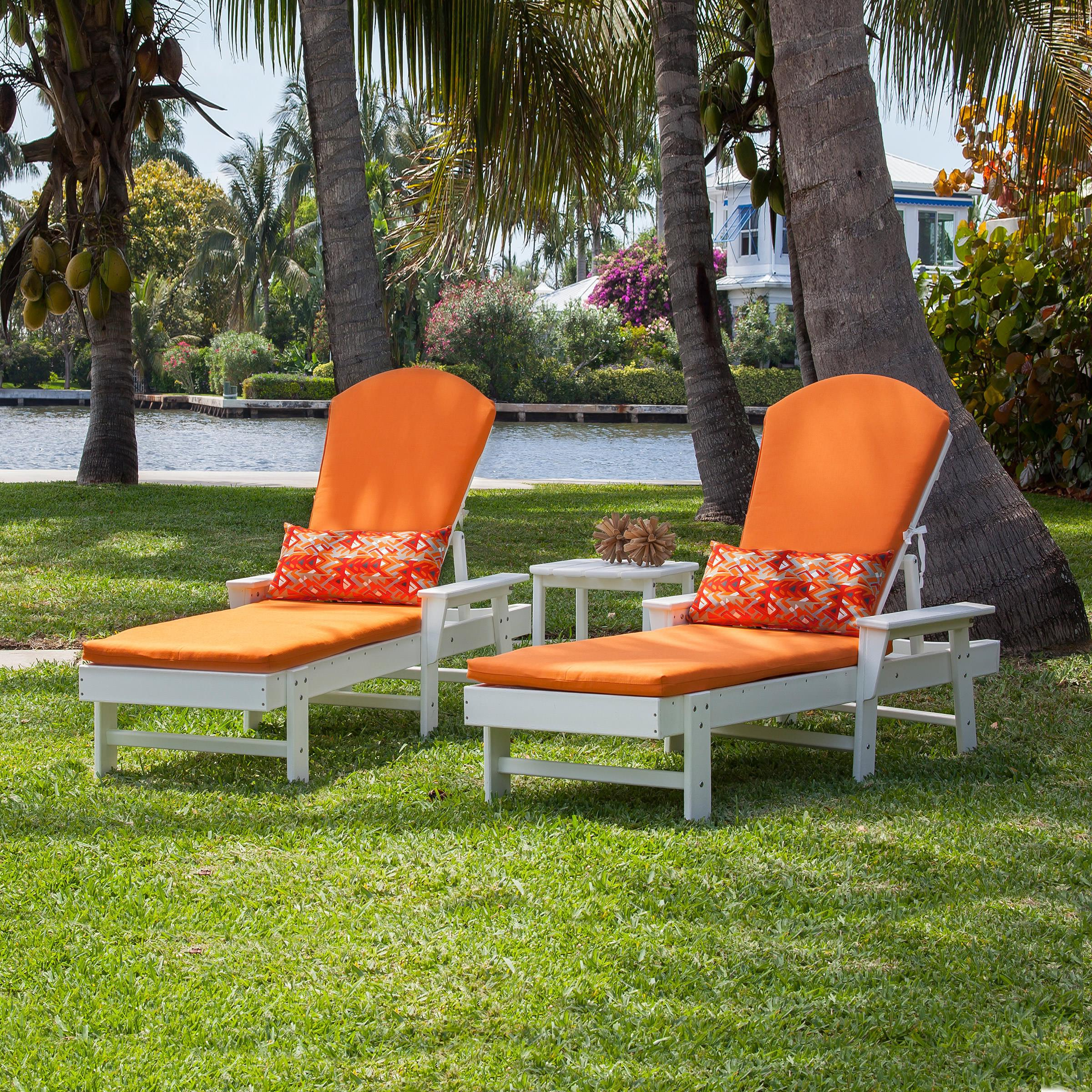 Polywood South Beach Chaise Set With Cushions In Most Recently Released South Beach Chaise Lounges (Gallery 7 of 25)