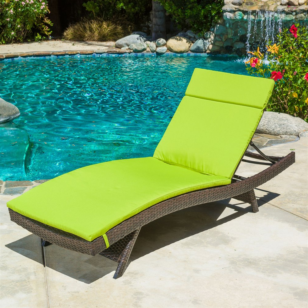 Popular Best Selling Home Decor Outdoor Wicker Adjustable Chaise Lounge With Cushion Throughout Outdoor Wicker Adjustable Chaise Lounges With Cushions (View 17 of 25)