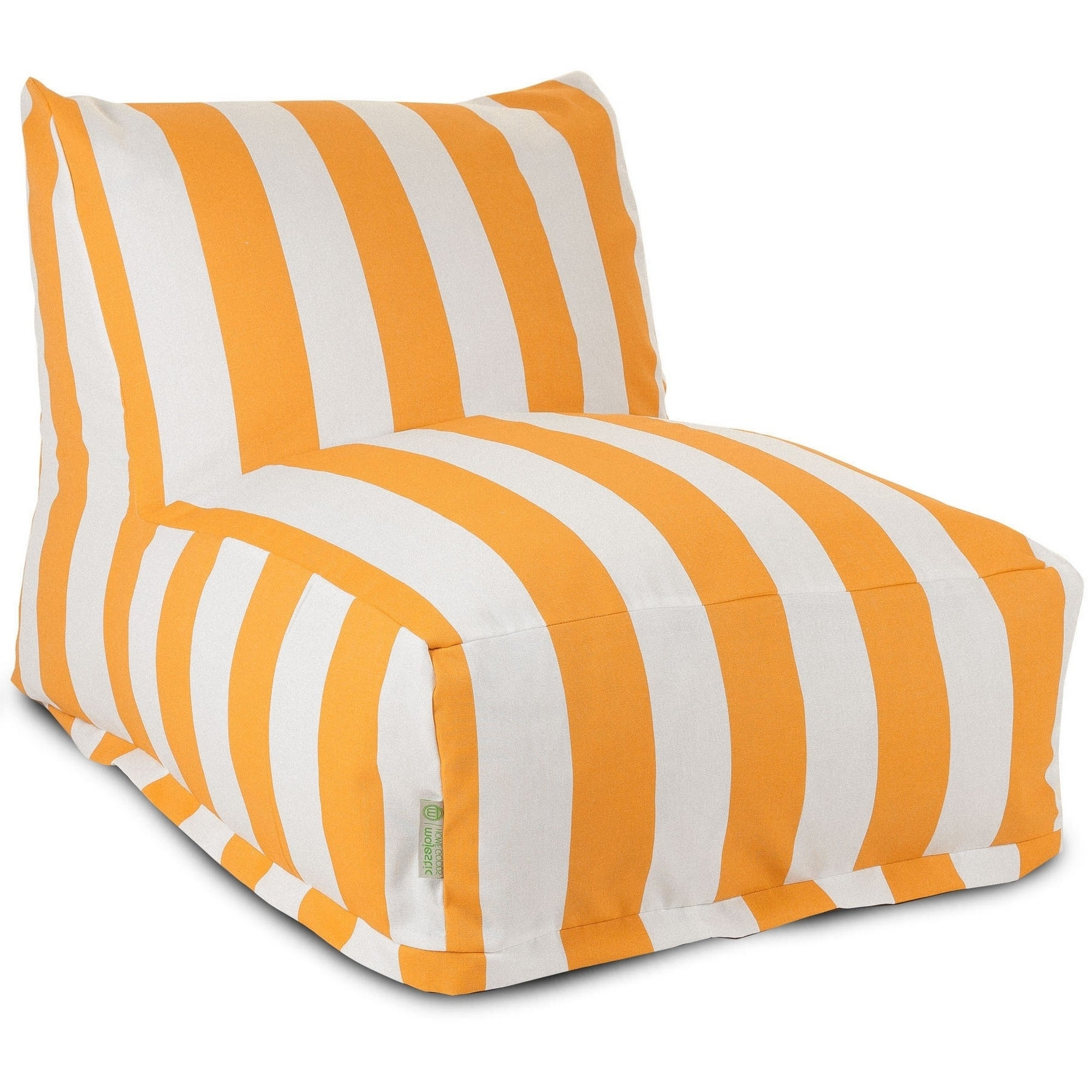 Popular Indoor/outdoor Vertical Stripe Bean Bag Chair Loungers With Majestic Home Goods Indoor Outdoor Yellow Vertical Stripe Bean Bag Chair Lounger 36 In L X 27 In W X 24 In H (View 4 of 25)