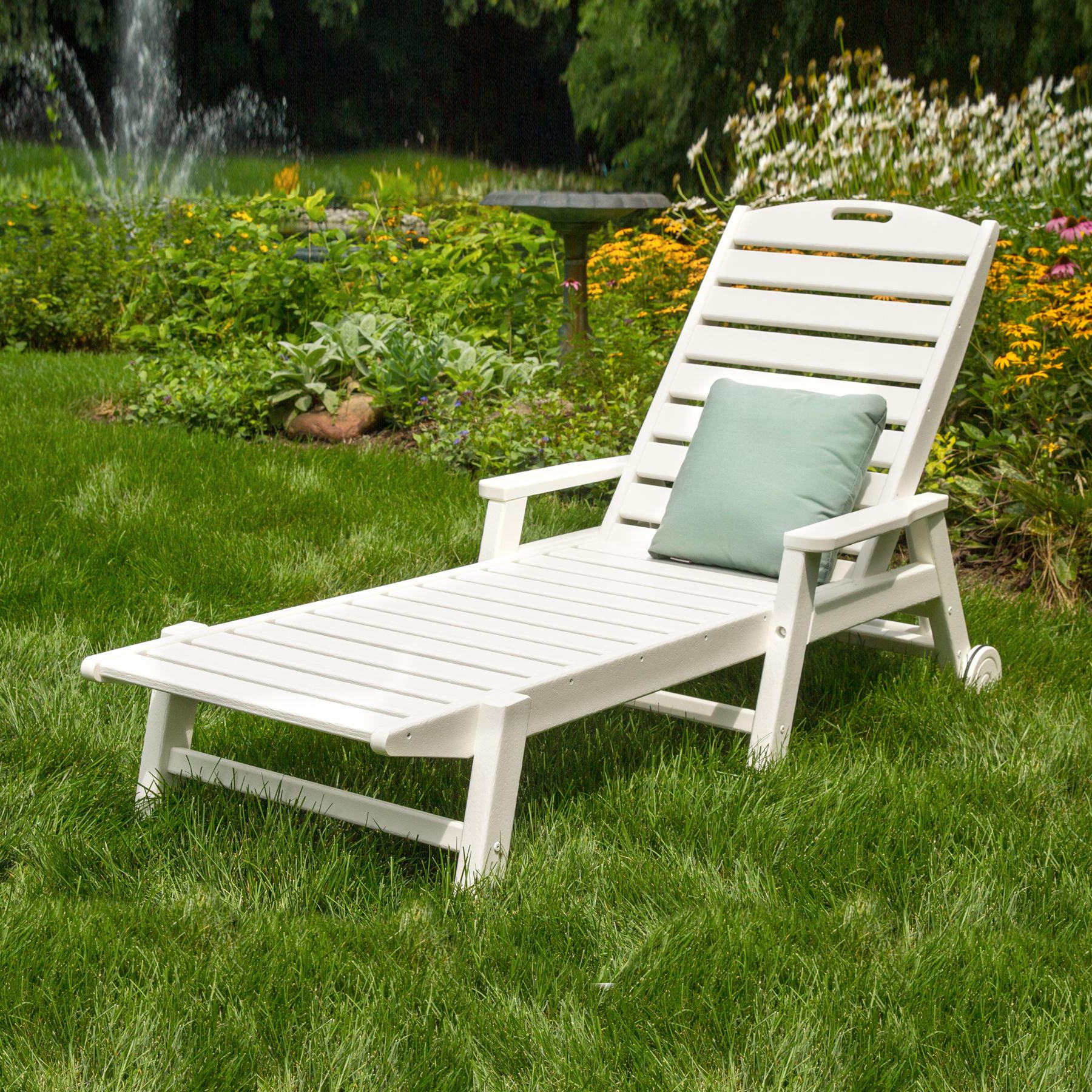Popular Polywood Nautical Wheeled Chaise Arms Throughout Nautical Outdoor Chaise Lounges With Arms (View 22 of 25)