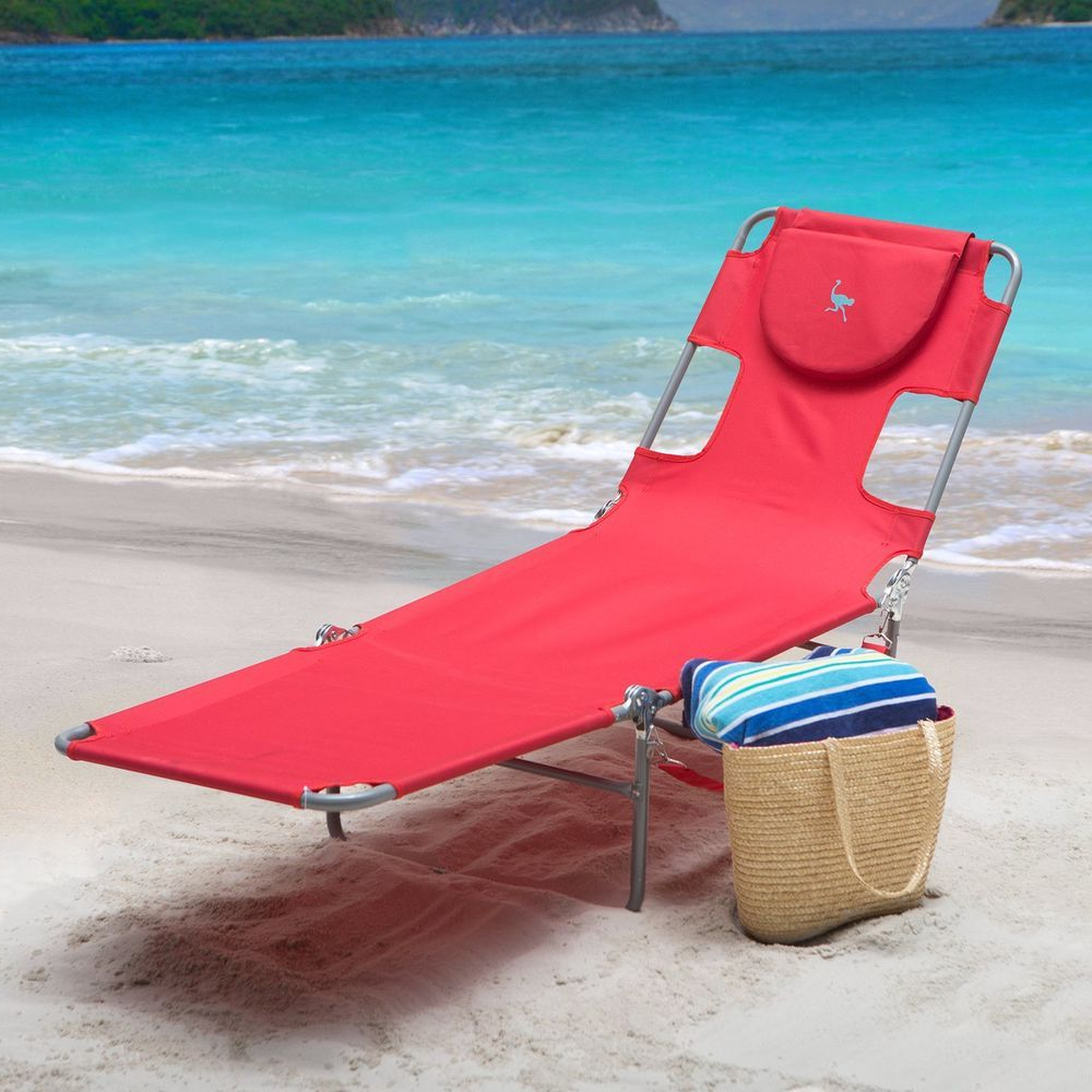 Popular Portable Reclining Beach Chaise Lounge Folding Chairs In Details About Outdoor Folding Reclining Beach Sun Patio (View 15 of 25)