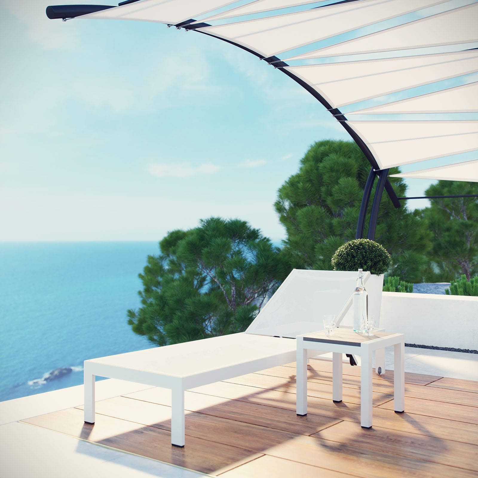 Popular Shore Aluminum Outdoor Chaise Lounges With Shore Aluminum Outdoor Chaise Set Of  (View 14 of 25)