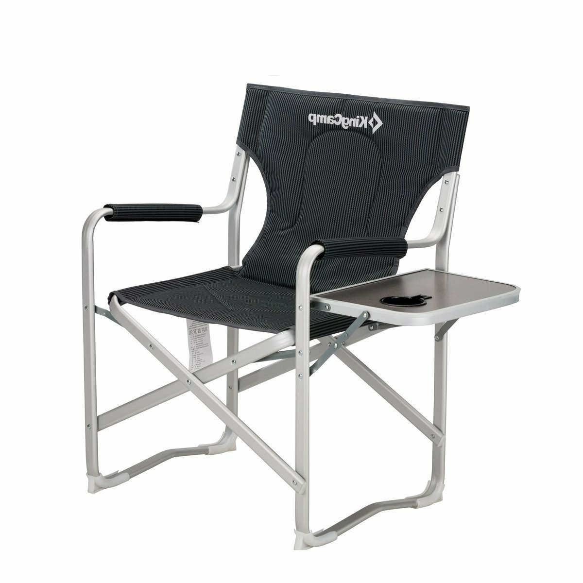 Portable Extendable Folding Reclining Chairs Within Trendy Portable Heavy Duty Folding Reclining Camping Chair With Armrest Side Table And Cup Holder (View 13 of 25)