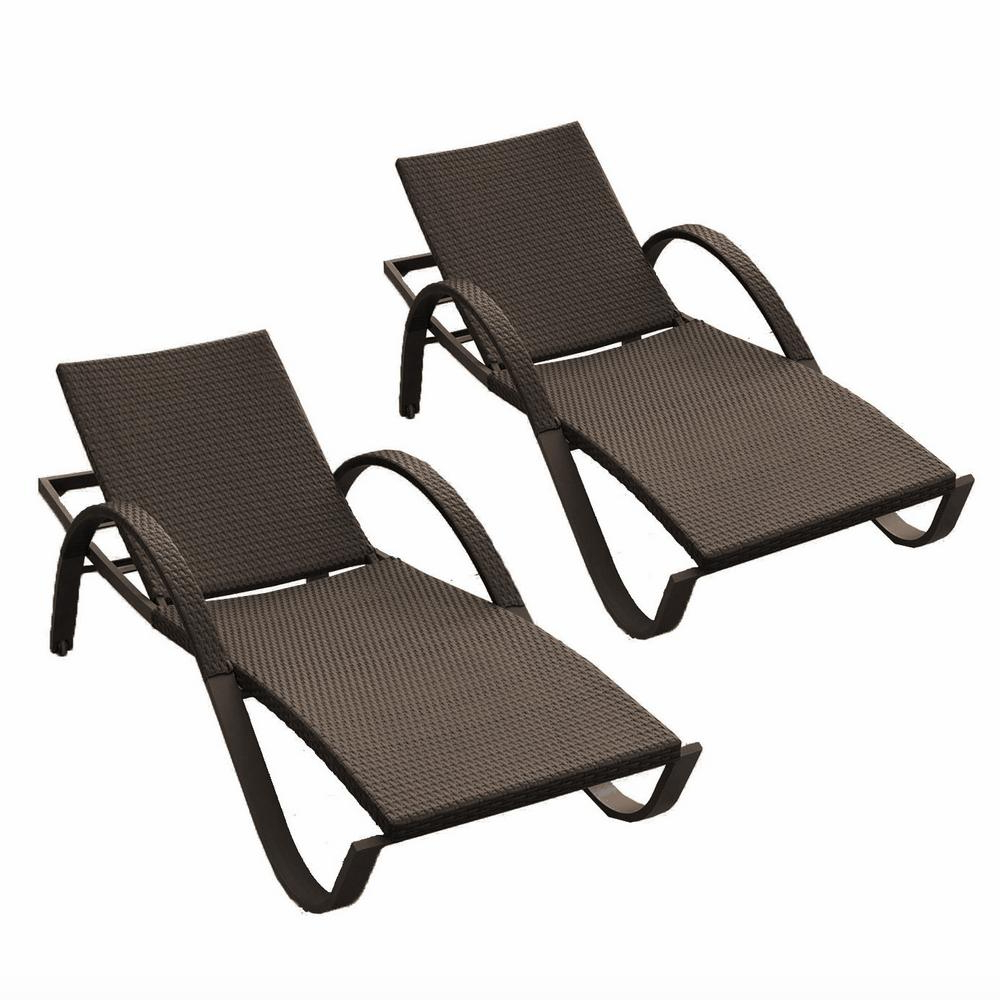 Preferred Amazonia Pacific 3 Piece Wheel Lounger Sets With White Cushions For Rst Brands Deco Patio Chaise Lounges (Set Of 2) (View 18 of 25)