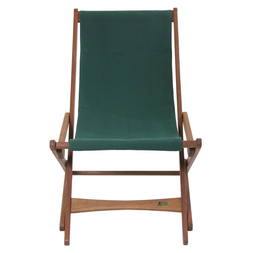 Preferred Byer Of Maine Green Fabric Outdoor Safe Folding Sling Chair For Outdoor Wood Sling Chairs (View 18 of 25)